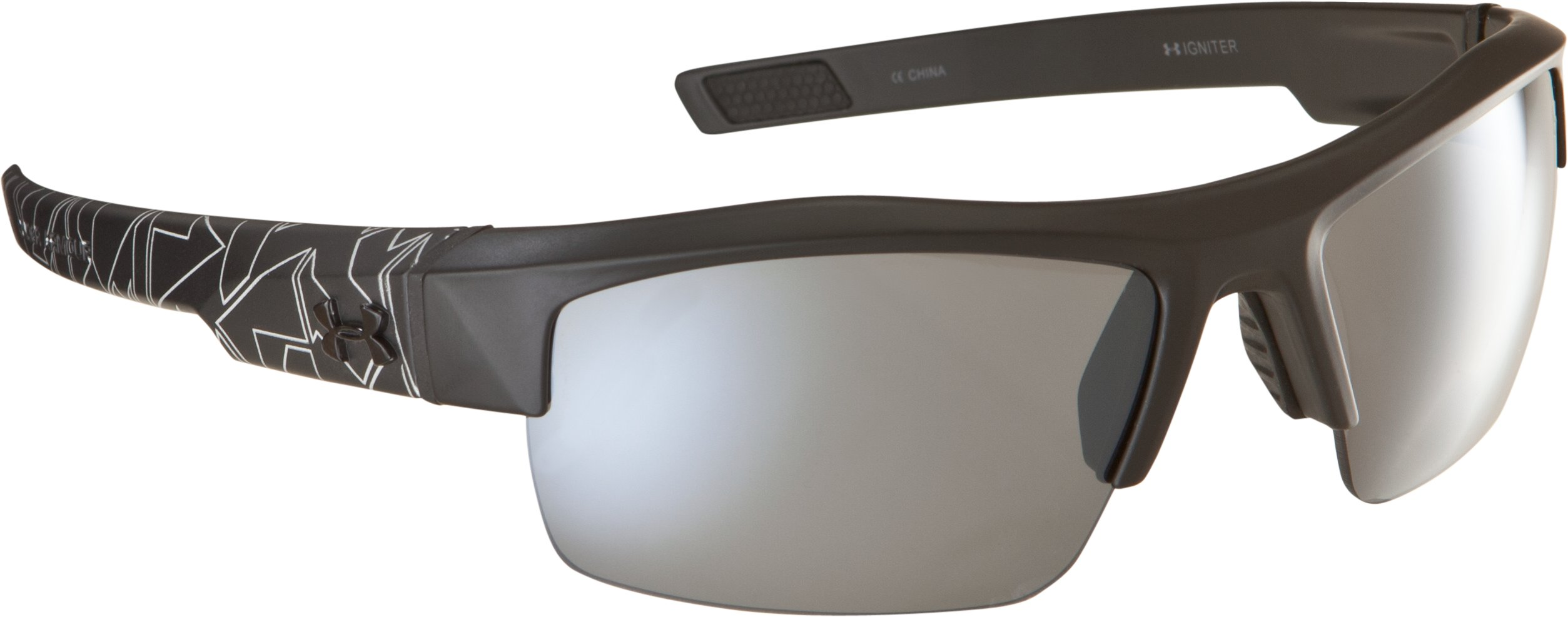 UA Igniter Multiflection™ Sunglasses, Satin Black With Print, zoomed image
