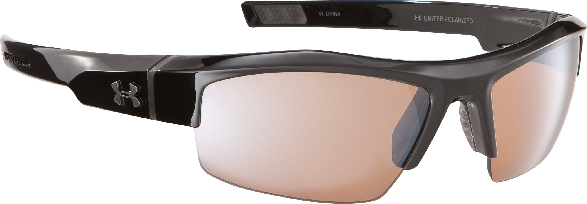 Men's UA Igniter Polarized Multiflection™ Sunglasses, Shiny Black