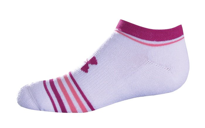Women's HeatGear® Women's Stripe Print Sock, White
