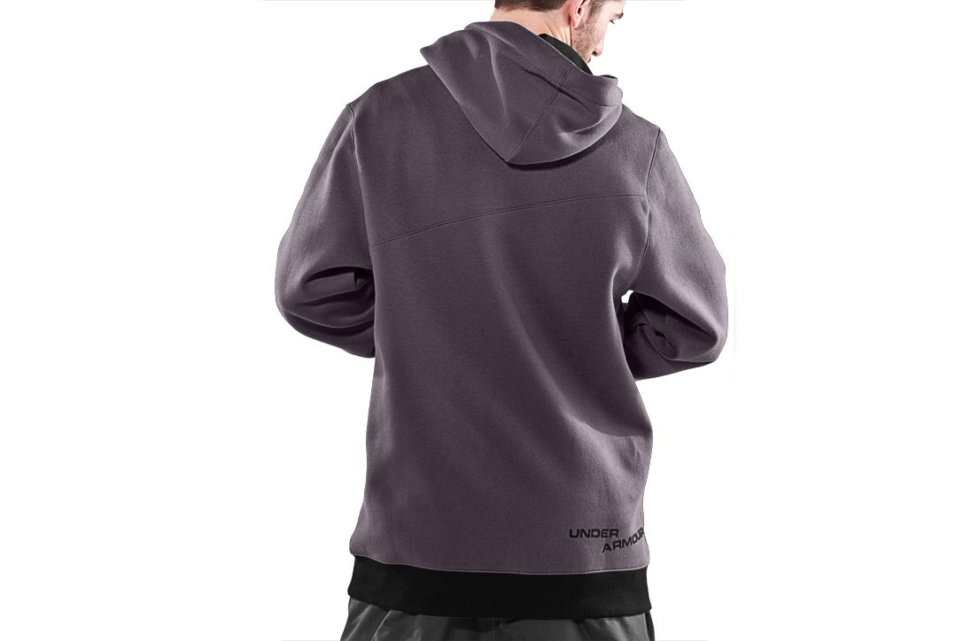 Men's Full Zip Hoodie, Charcoal