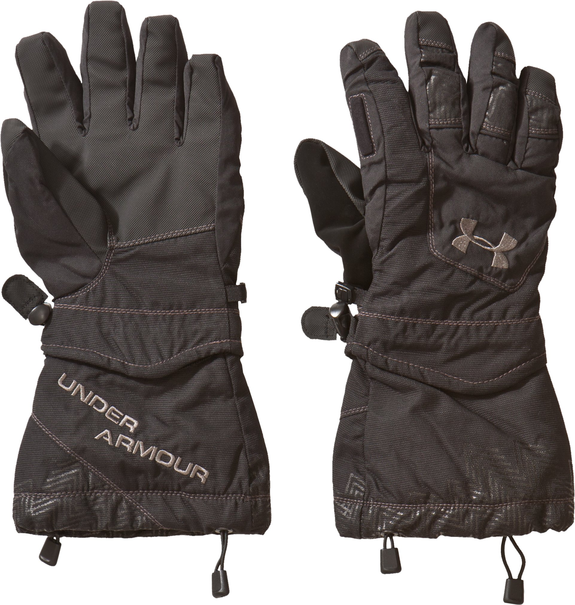 Men's UA Gauntlet Water-Resistant Gloves, Black , zoomed image