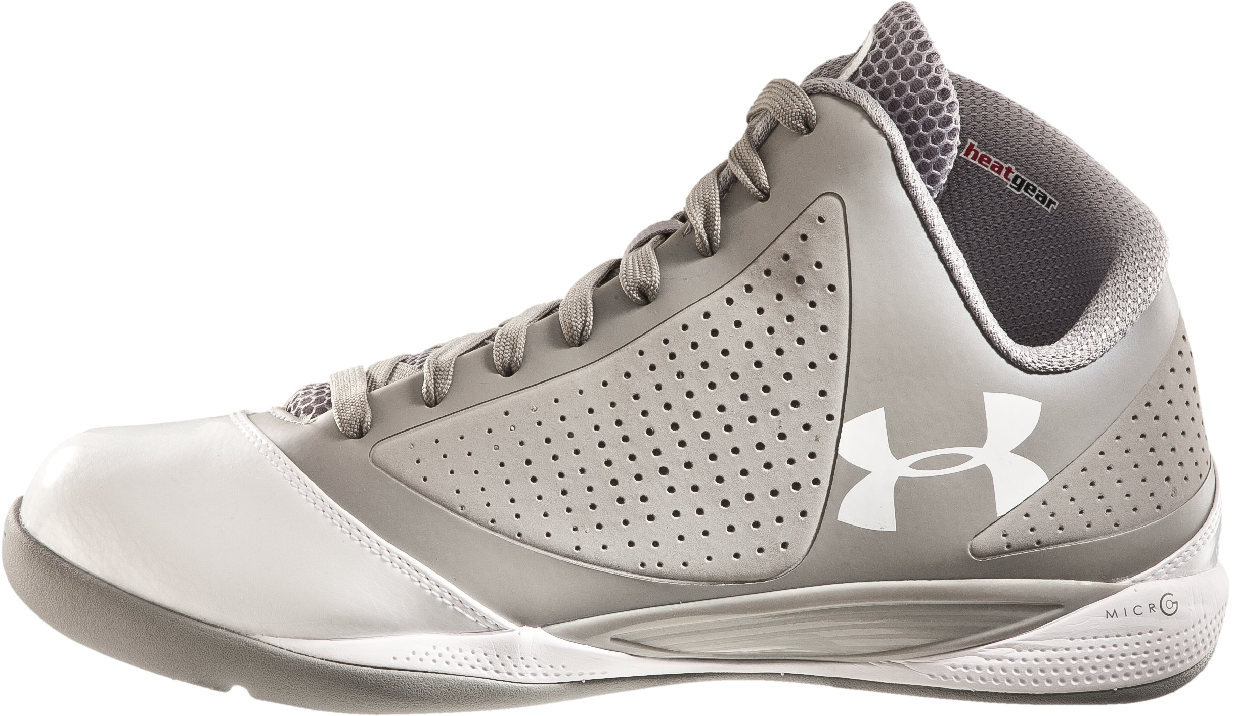 Men's UA Micro G® Supersonic Basketball Shoes, Silver
