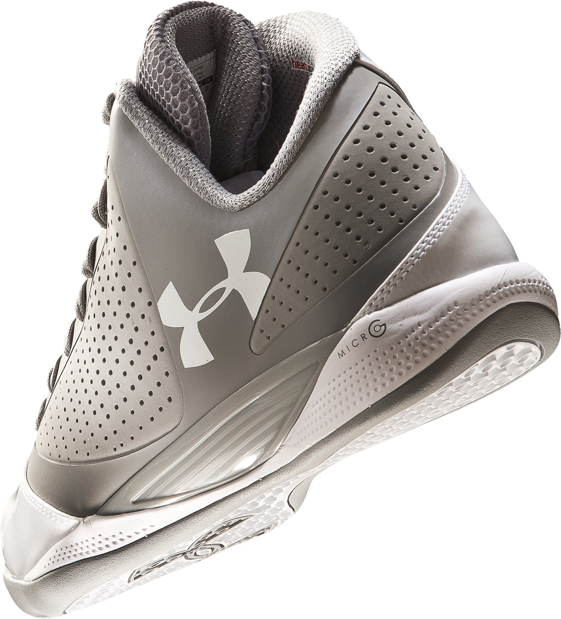 Men's UA Micro G® Supersonic Basketball Shoes, Silver,