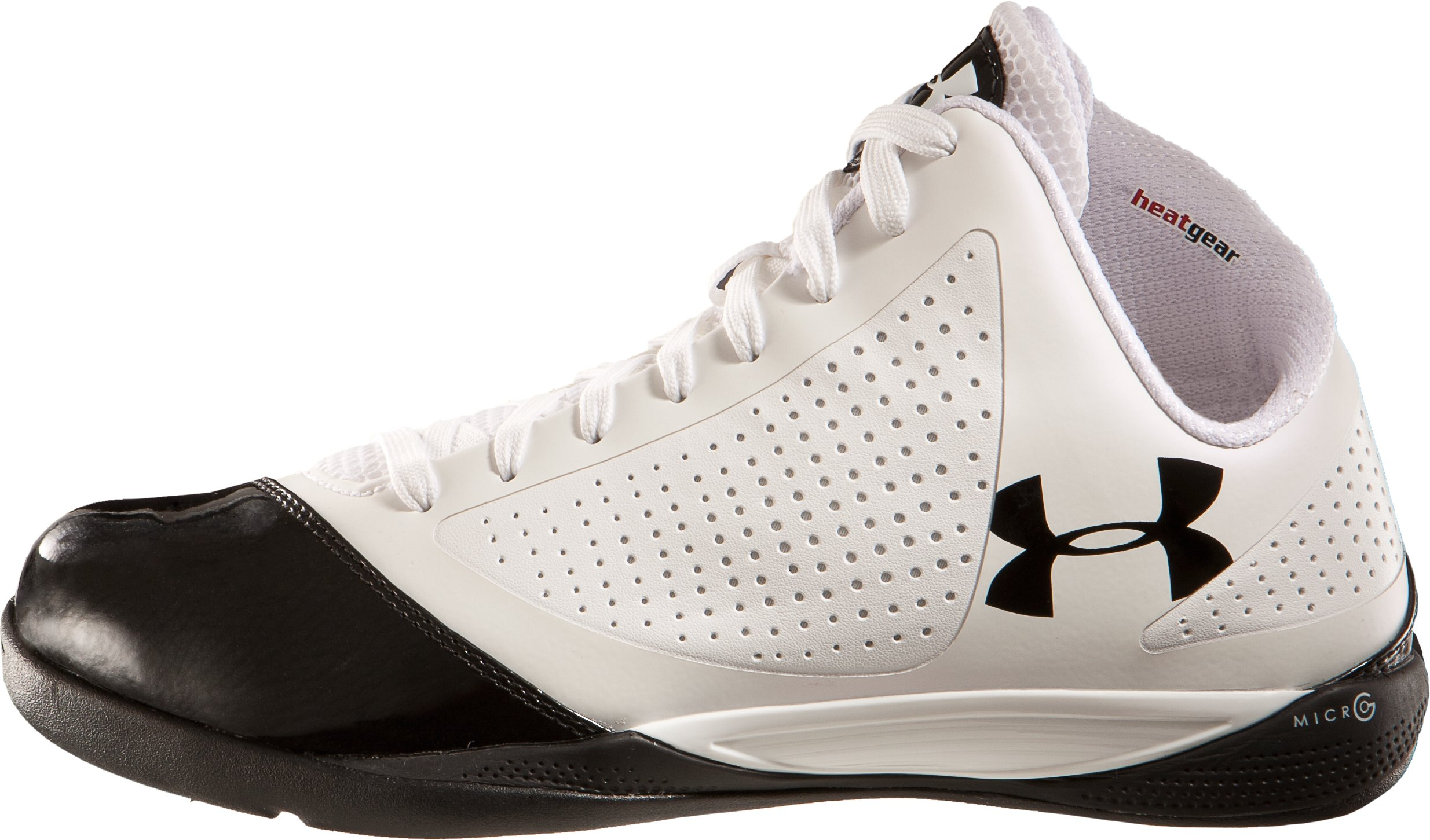 Men's UA Micro G® Supersonic Basketball Shoes, White, undefined