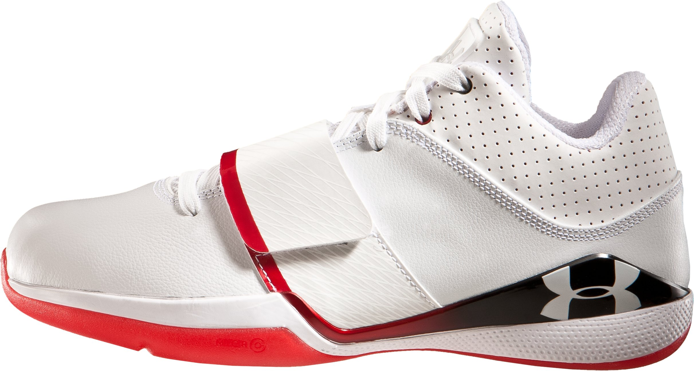 Men's UA Micro G® Bloodline Basketball Shoes, White, zoomed image