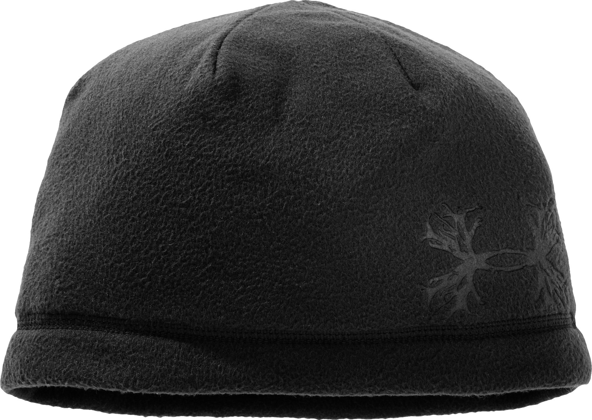 Men's Antler Fleece Beanie, Black , zoomed image