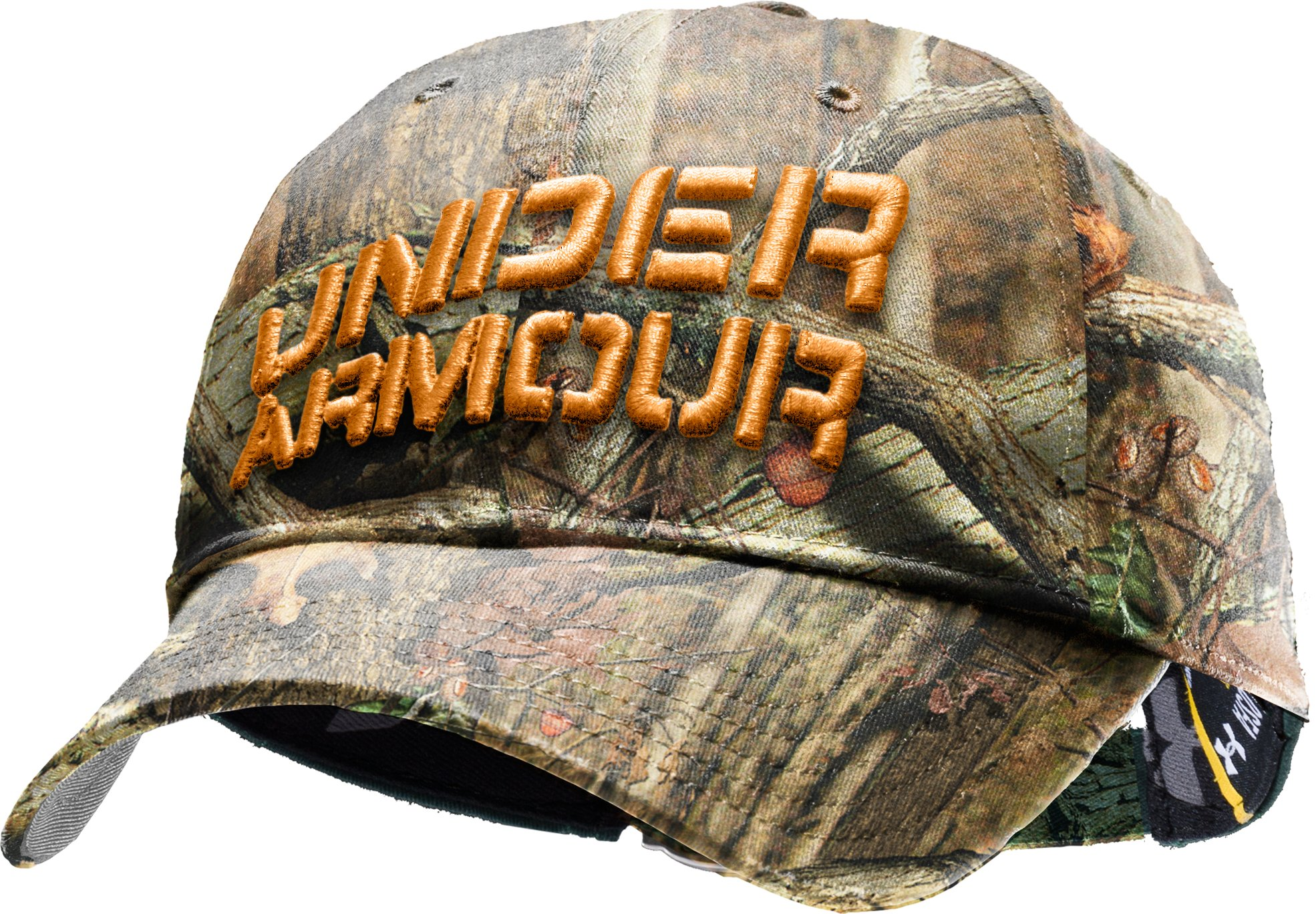 Men's Camo Approach Stretch Fit Hat, Mossy Oak Break-Up Infinity, zoomed image