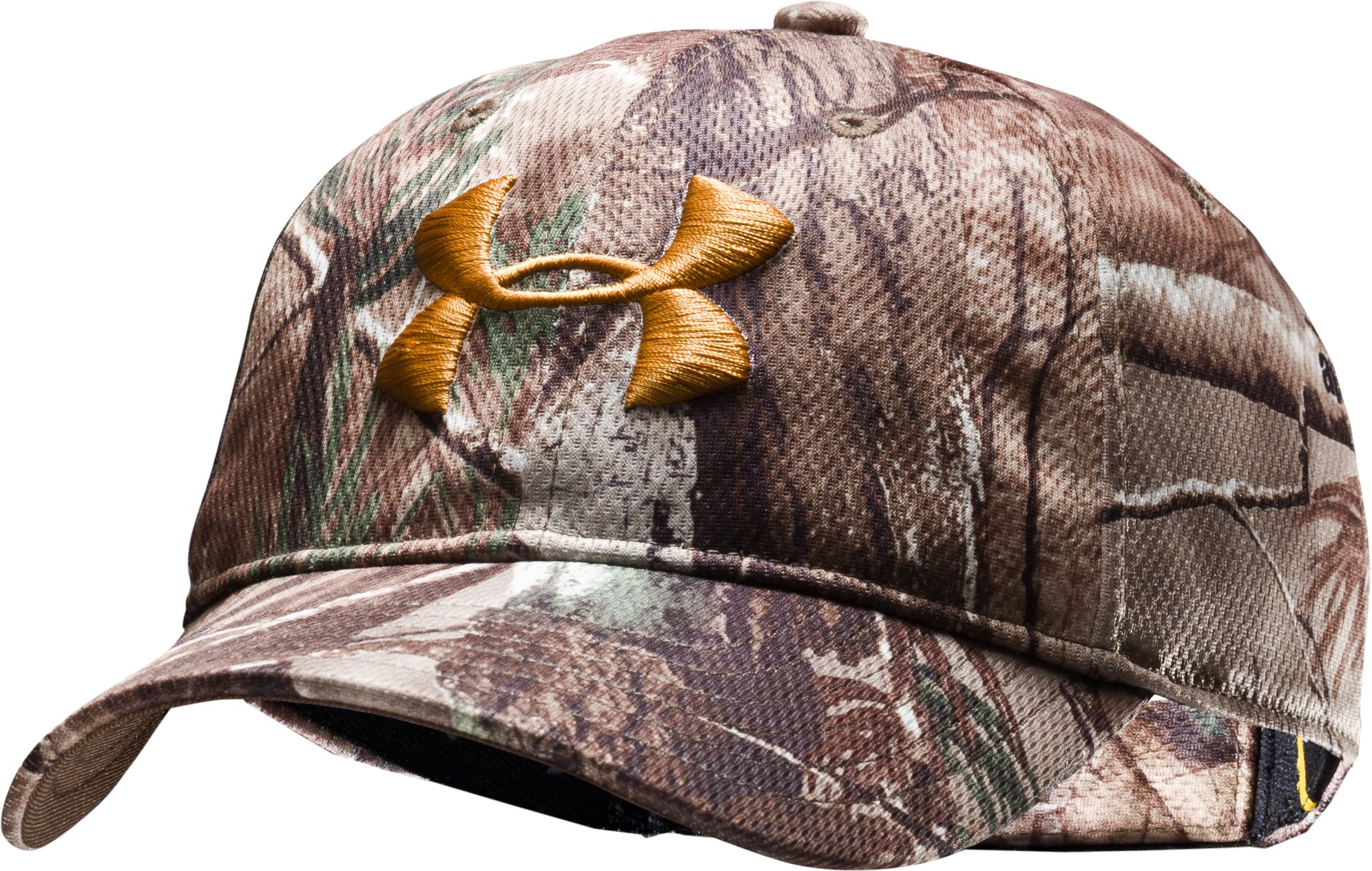 Kids' UA Camo Adjustable Cap, Realtree AP, zoomed image