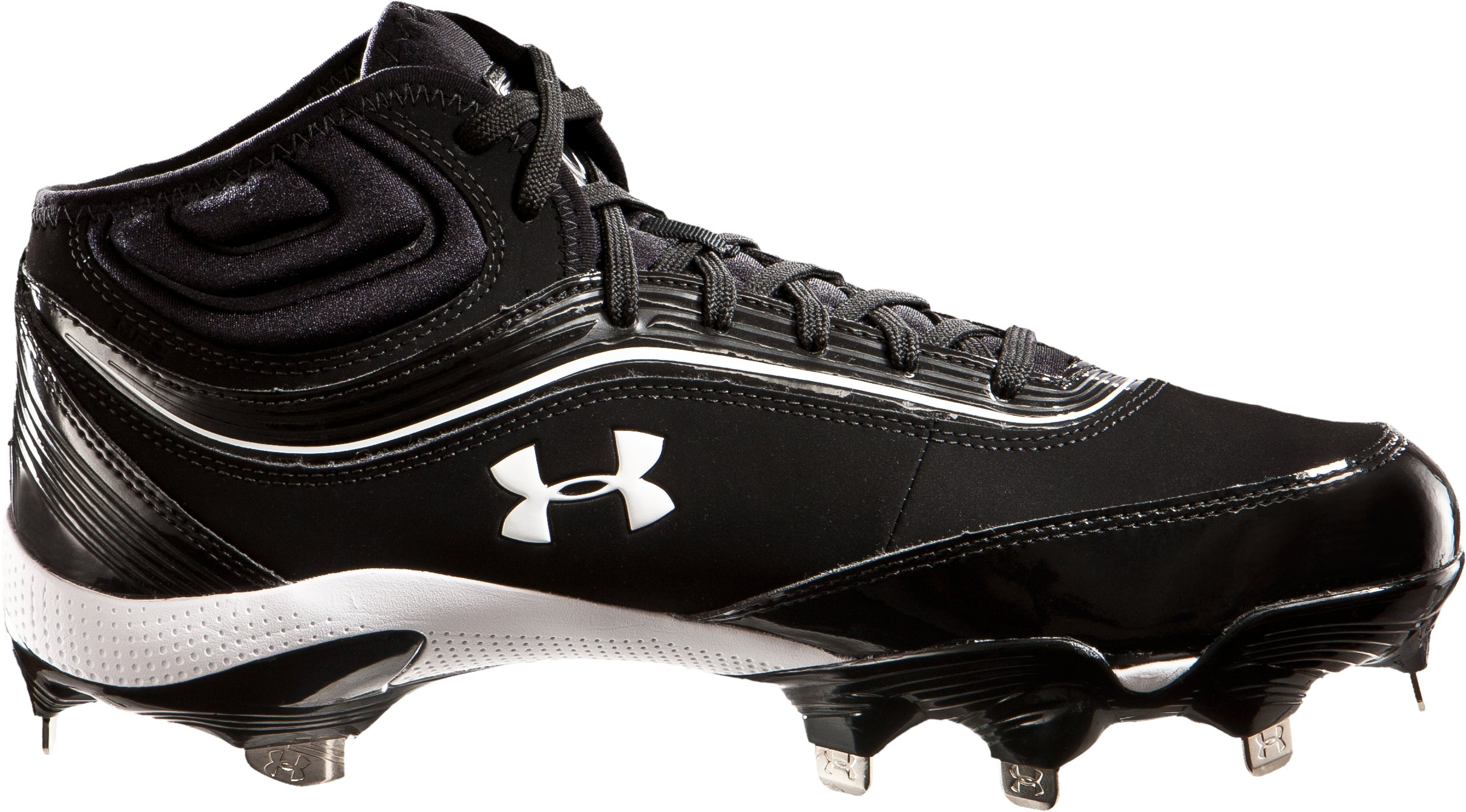 Men's UA Heater IV 5/8-Cut Baseball Cleats, Black , zoomed image
