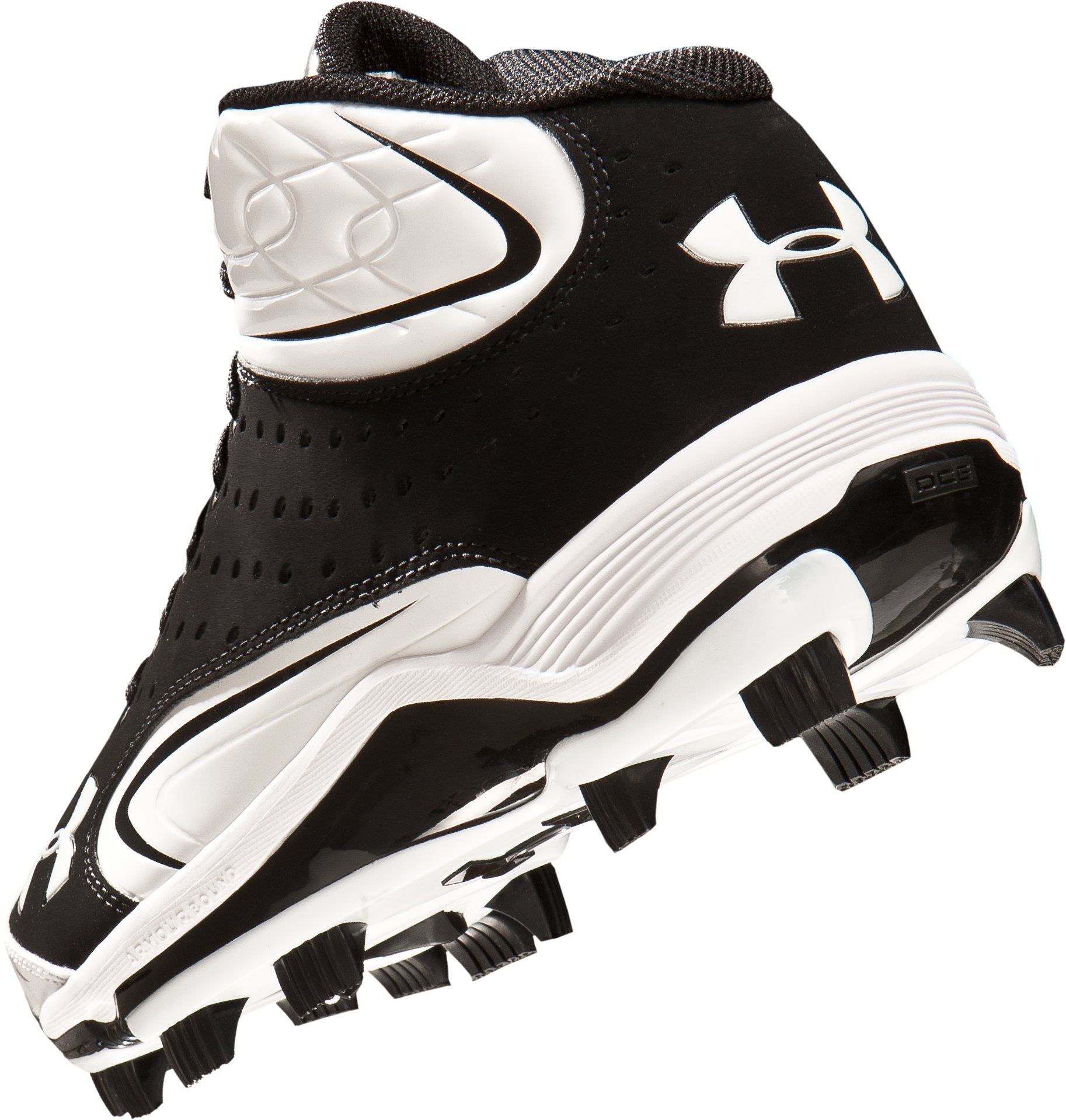 Men's UA Yard III Mid-Cut Molded Baseball Cleats, Black
