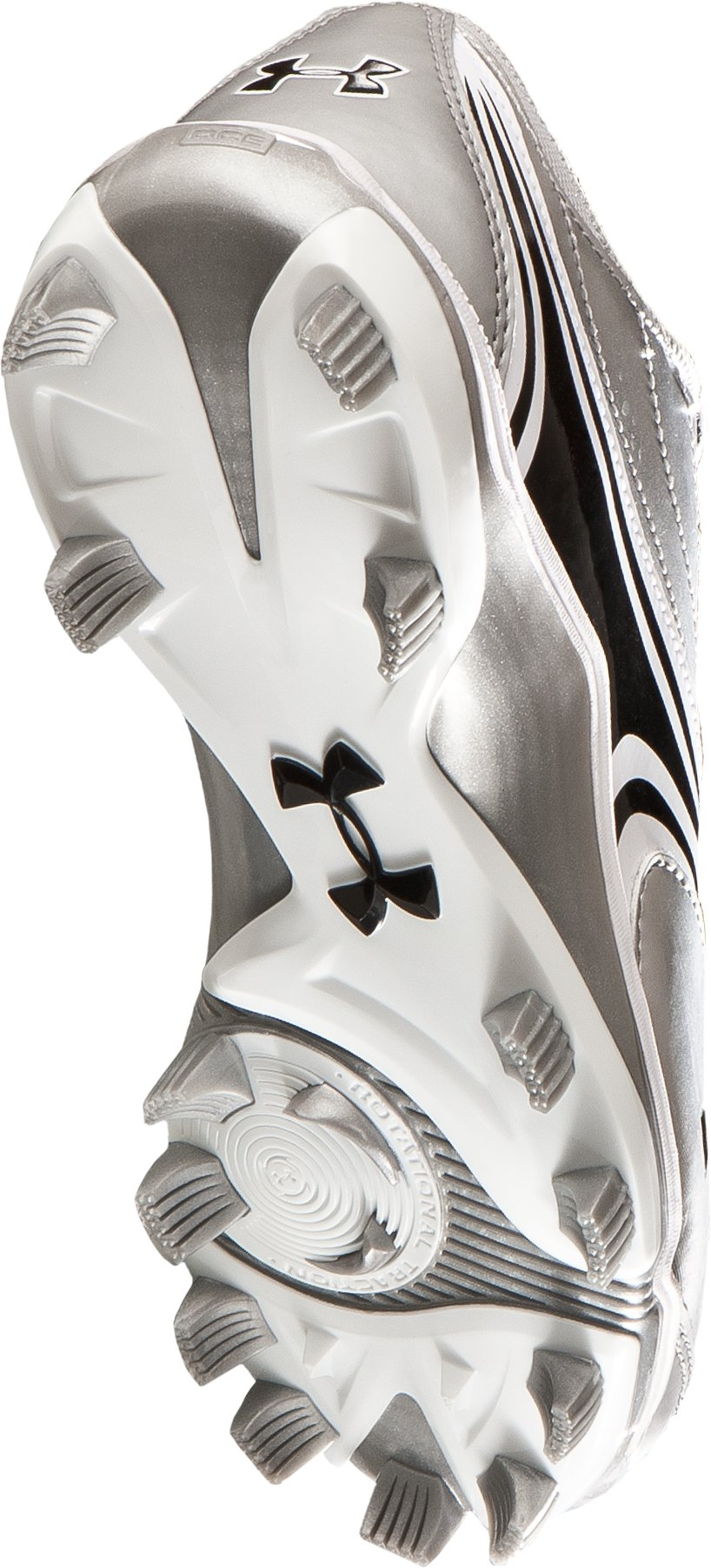 Women's UA Glyde IV TPU Softball Cleats, Silver