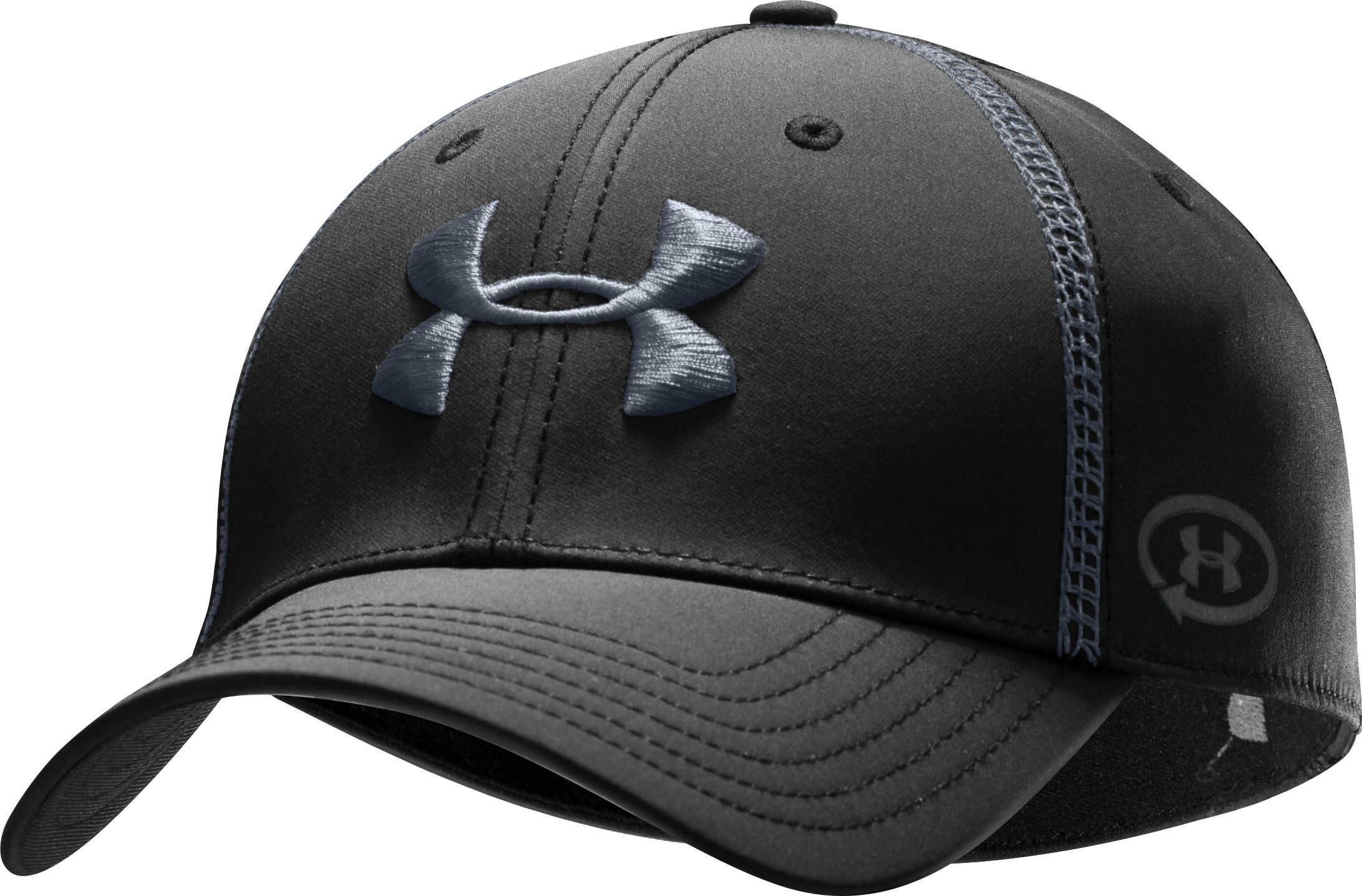 Men's UA Catalyst Training Stretch Fit Cap, Black , zoomed image