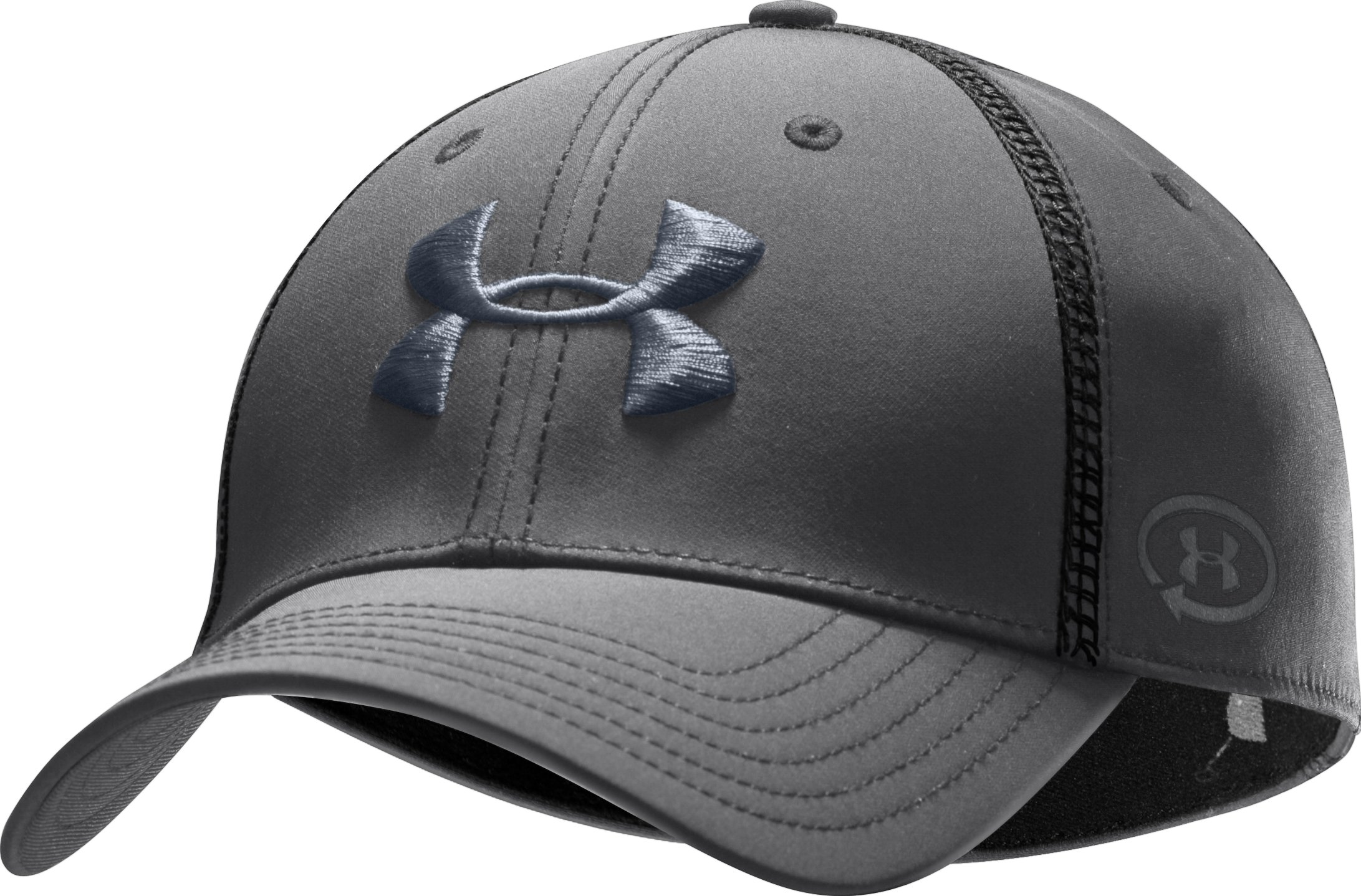 Men's UA Catalyst Training Stretch Fit Cap, Graphite, zoomed image