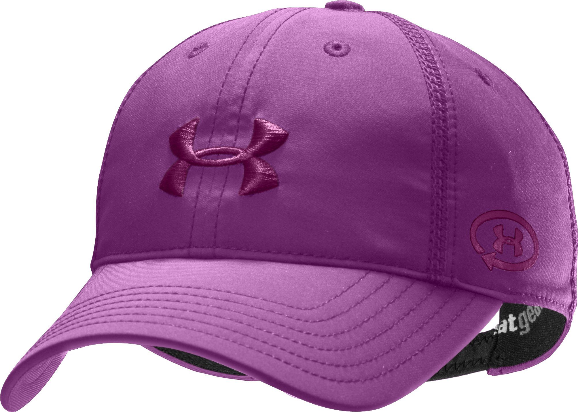Women's UA Catalyst Adjustable Cap, Cassis, zoomed image
