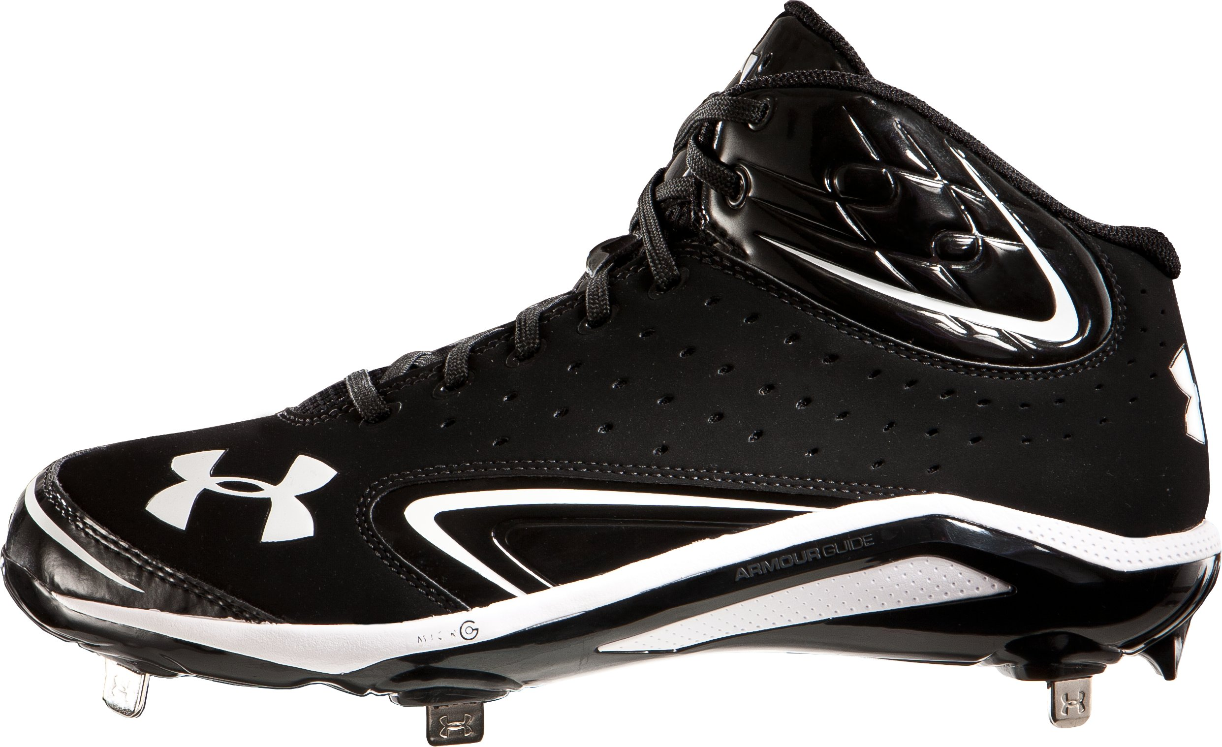 Men's UA Yard III Mid-Cut Metal Baseball Cleats, Black
