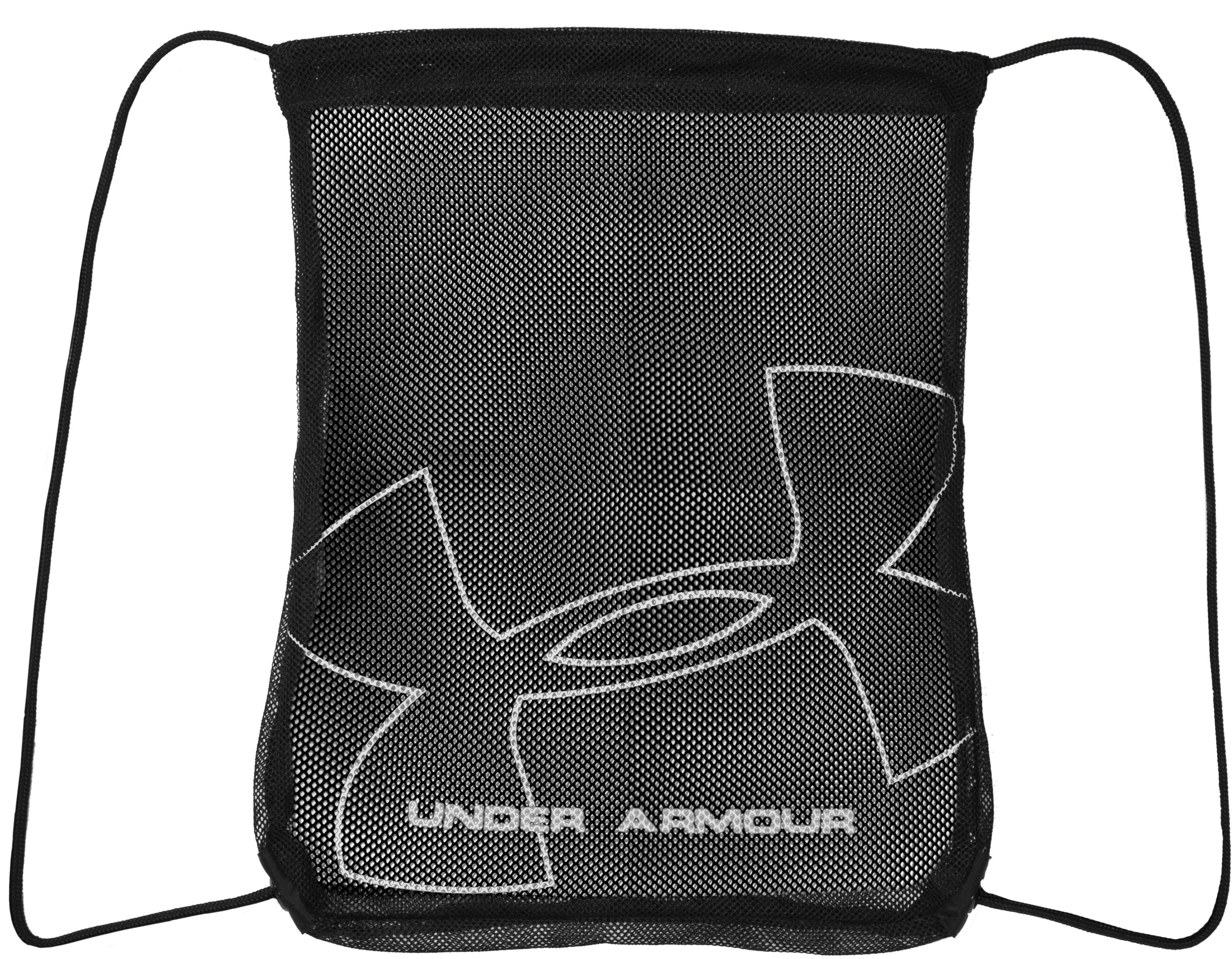 UA Mesh Sackpack, Black , zoomed image