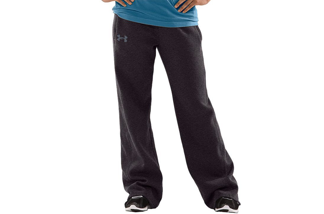 Women's UA Charged Cotton® Storm Fleece Pants, Carbon Heather