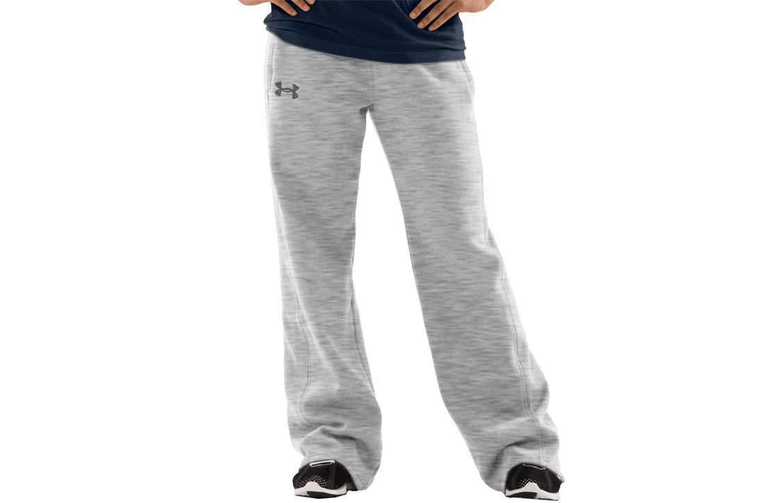 Women's UA Charged Cotton® Storm Fleece Pants, Silver Heather, undefined