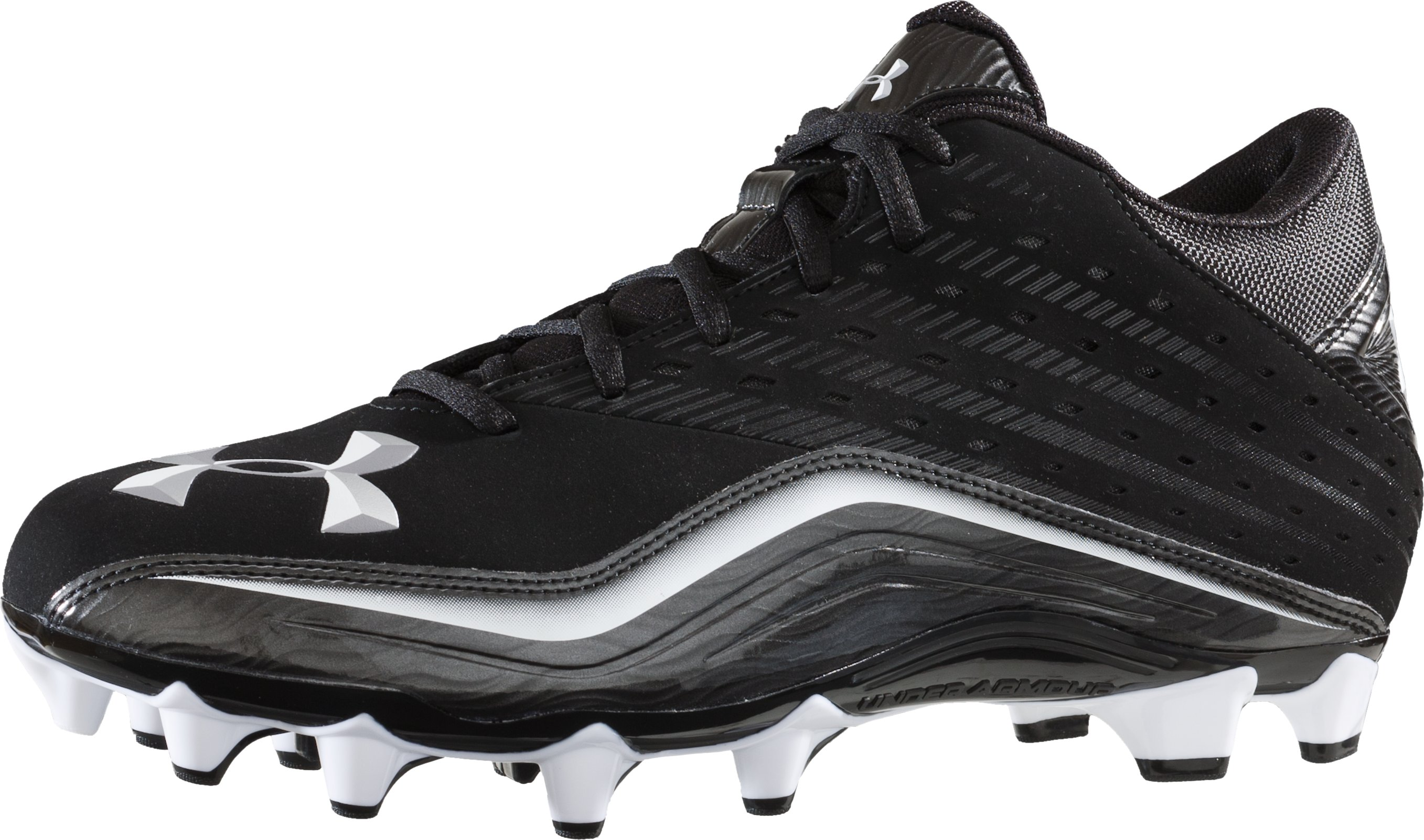 Men's UA Surge II 5/8 MC Football Cleat, Black , zoomed image