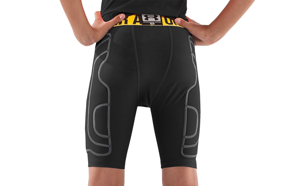 Boys' Break III Compression Slider Shorts, Black