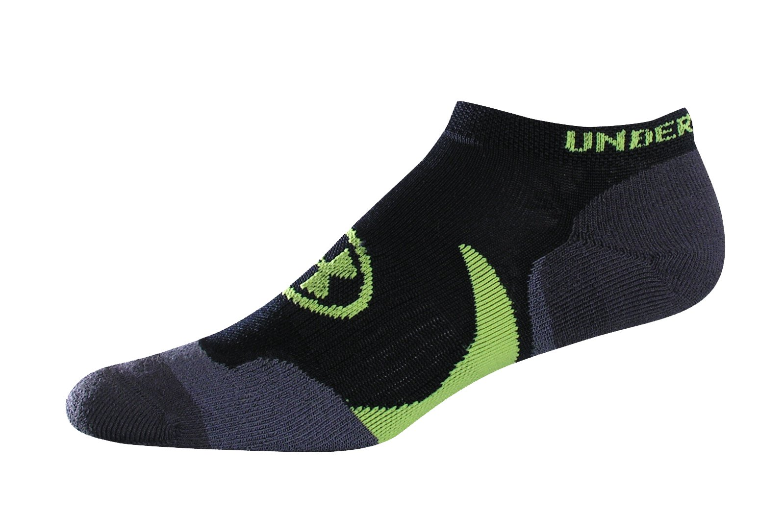 Men's UA Catalyst No Show Socks, Black , zoomed image