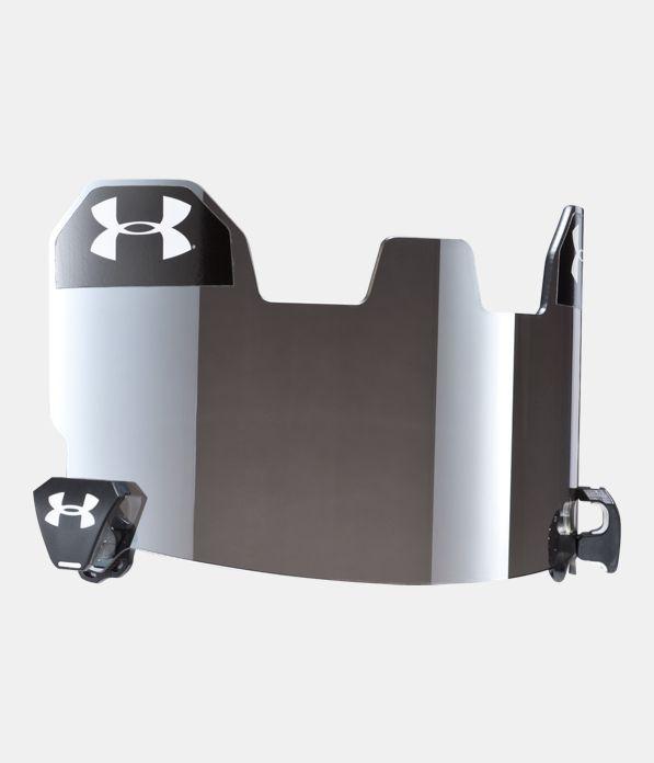 Football visor gray with mirror under armour us for Mirror visor