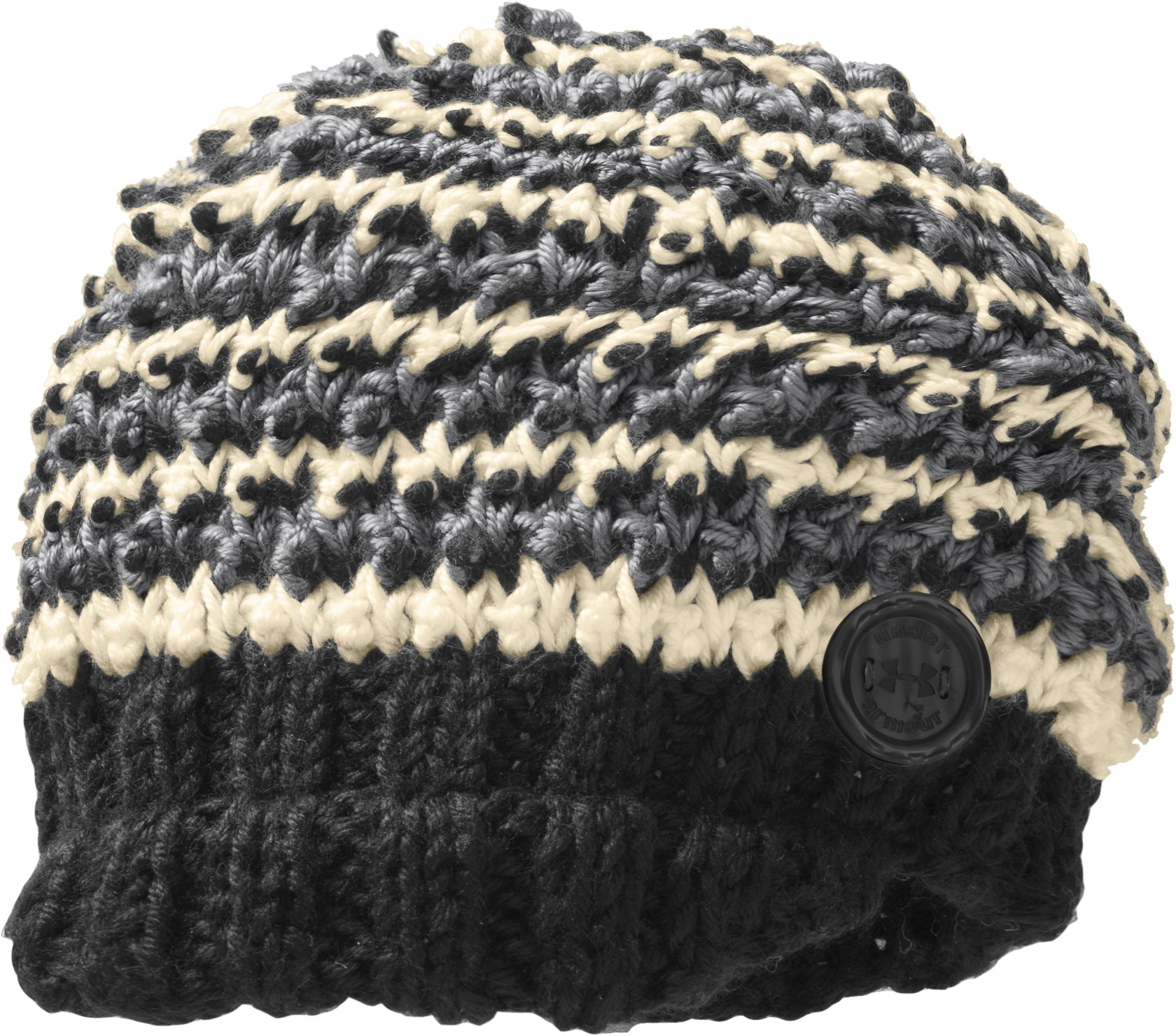 Women's UA Soft Visor Beanie, Black , zoomed image