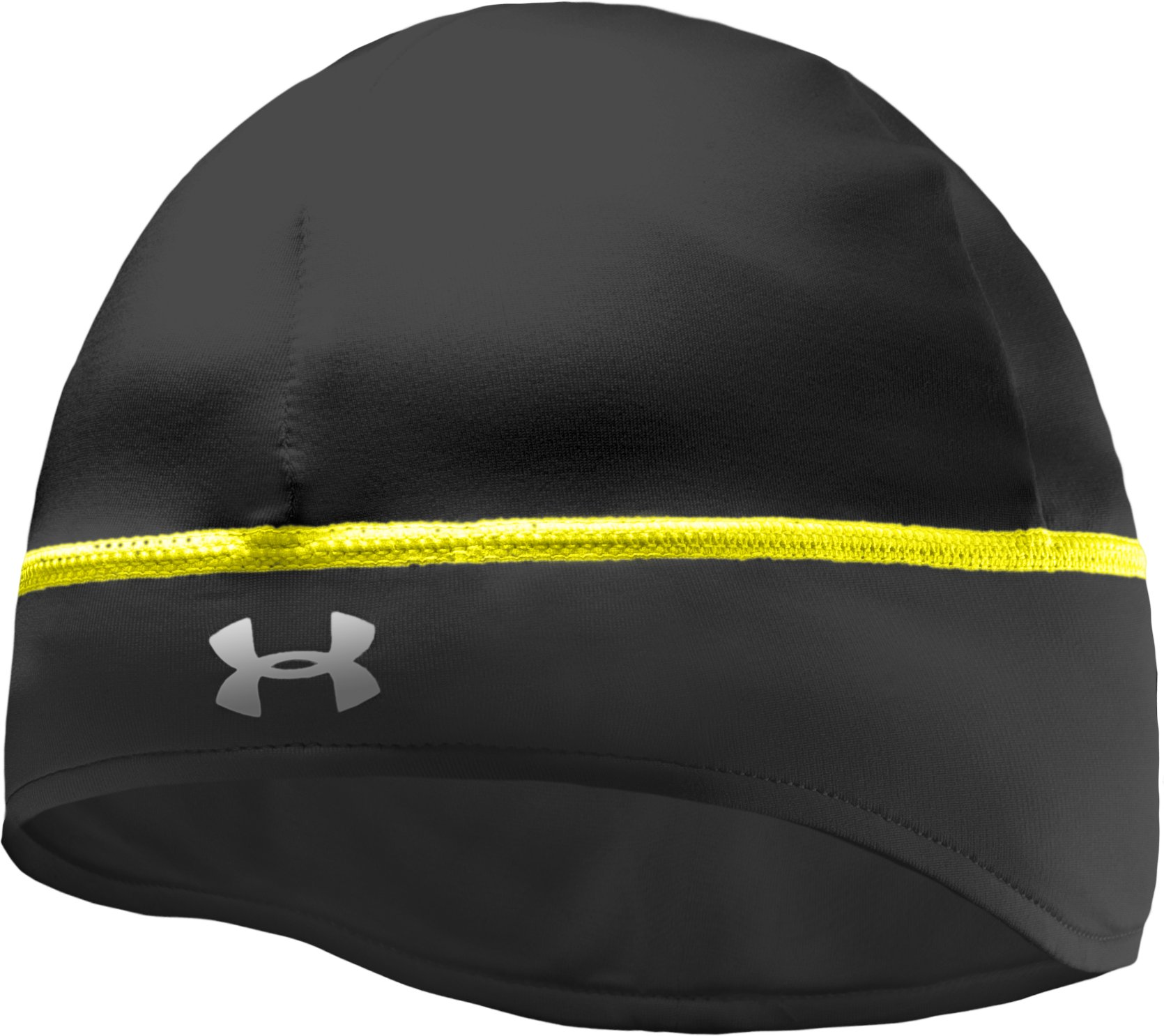 Women's UA Ponytail Running Beanie, Black , undefined