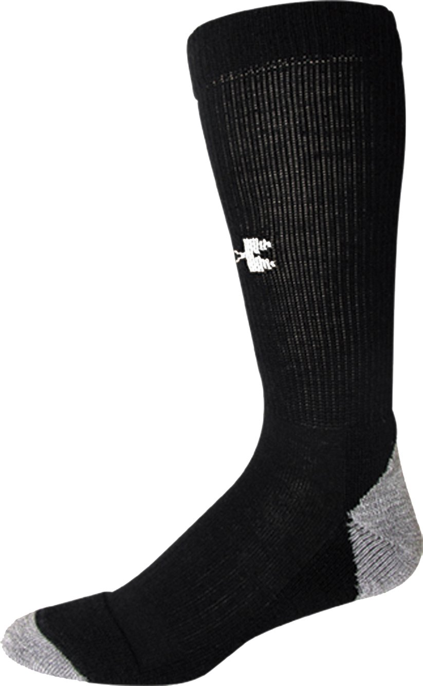 Men's UA Lite Cushion Boot Socks, Black , zoomed image