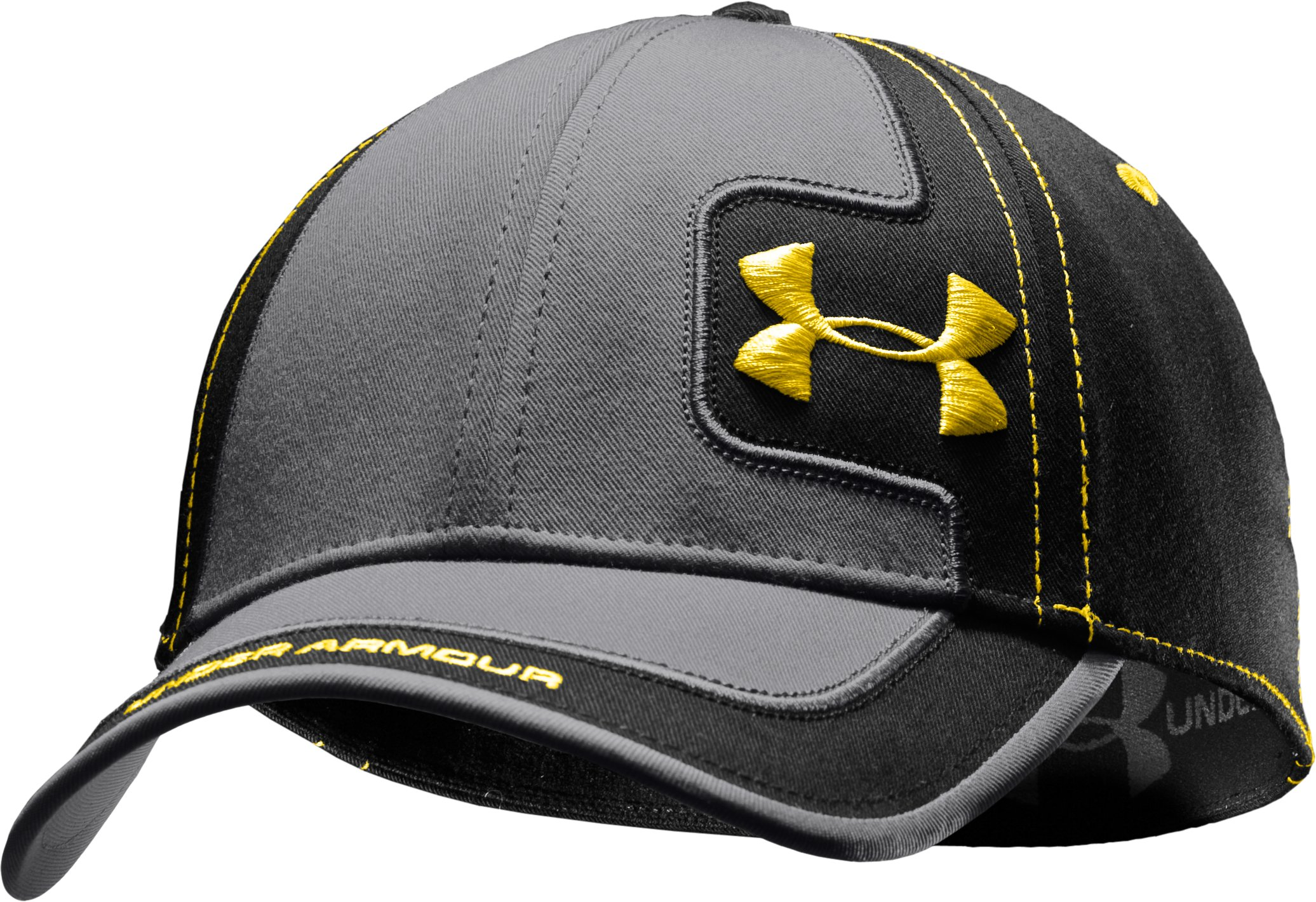 Men's UA Sideline Stretch Fit Cap, Black , zoomed image