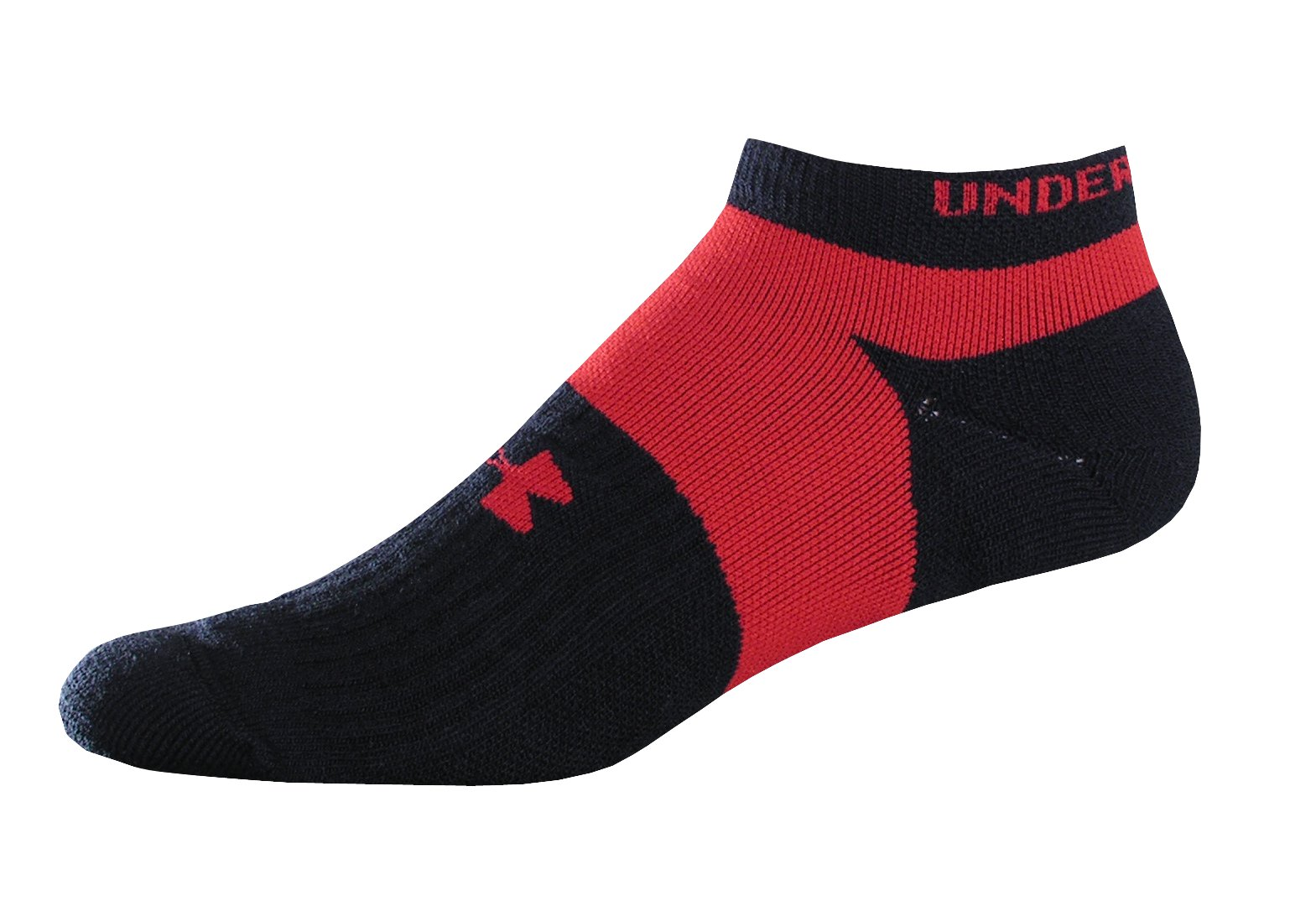 Men's UA Streamline No Show Running Sock 2-Pack, Black , zoomed image