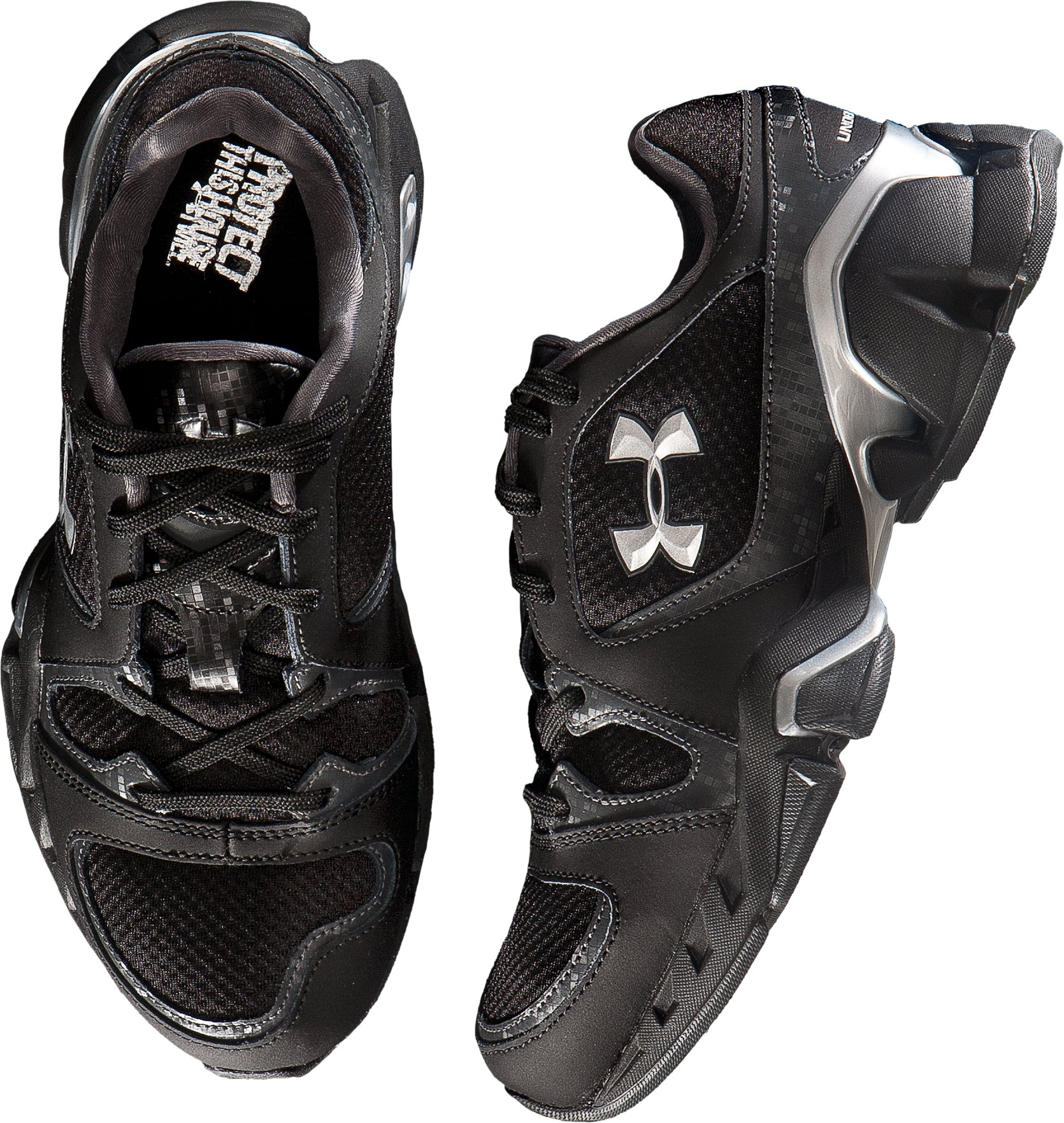 Boys' UA Strive Grade School Training Shoes, Black