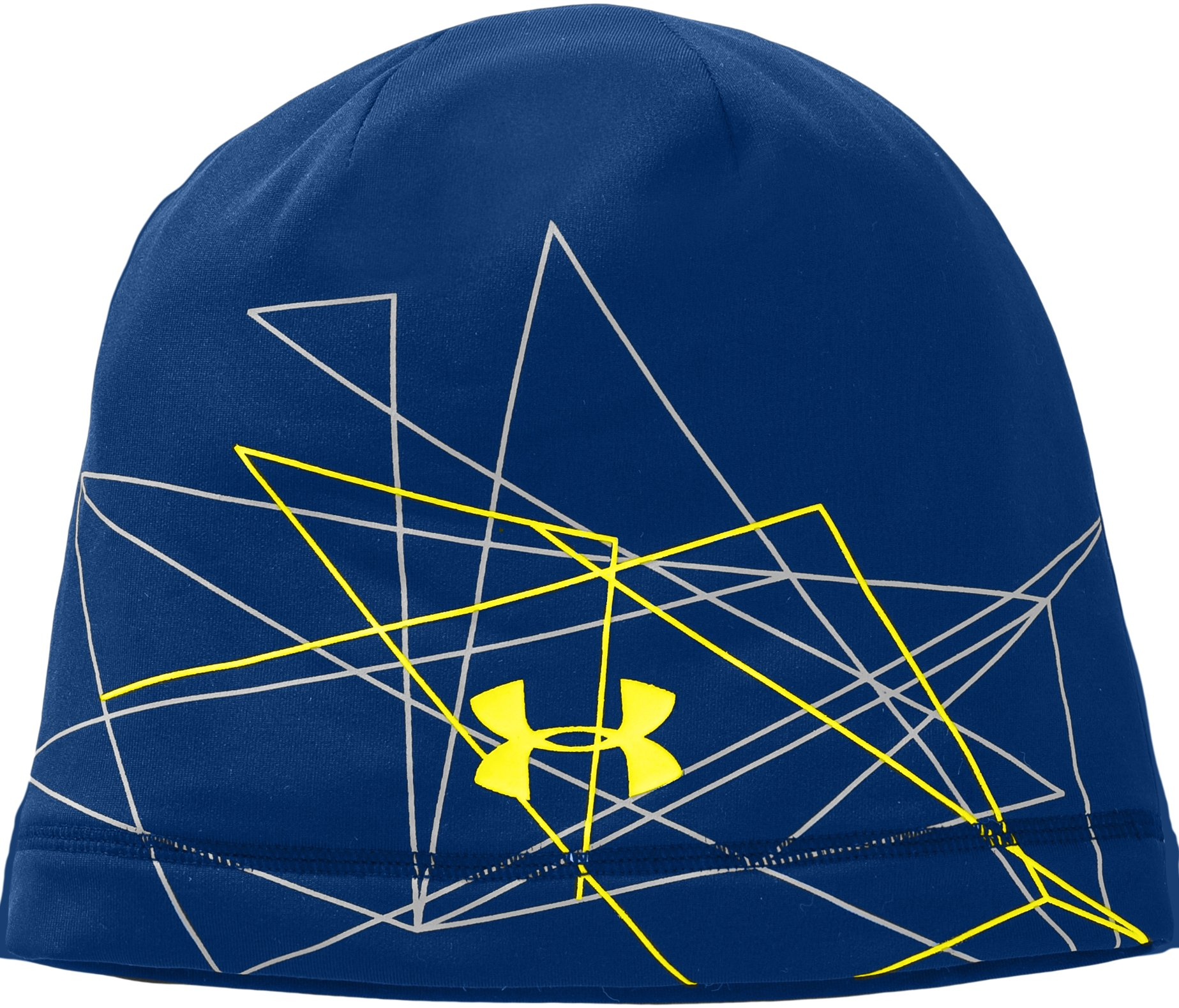 Men's UA Glow-in-the-Dark Running Beanie, Lightning, zoomed image