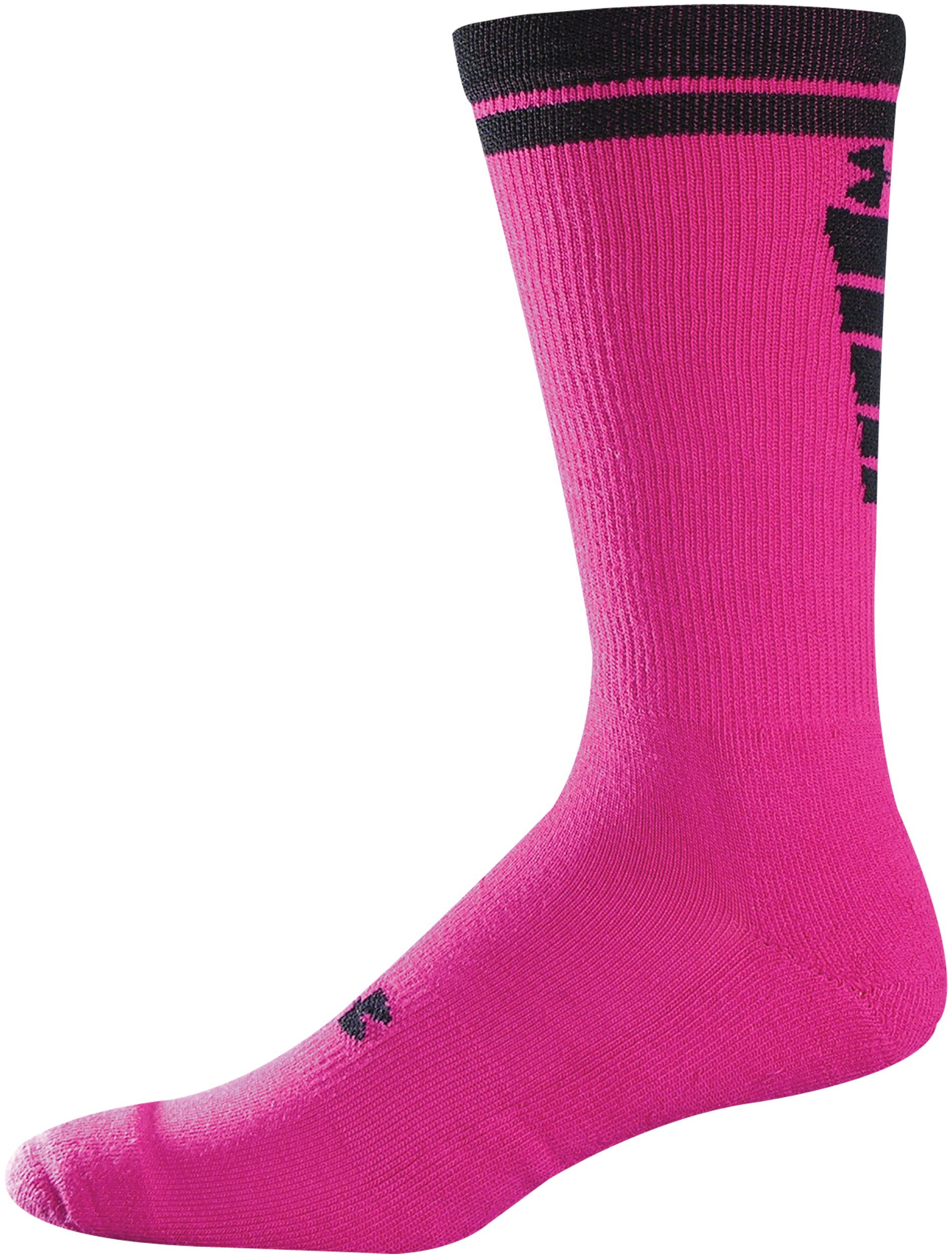 Men's UA Zagger Crew Socks, Tropic Pink, zoomed image