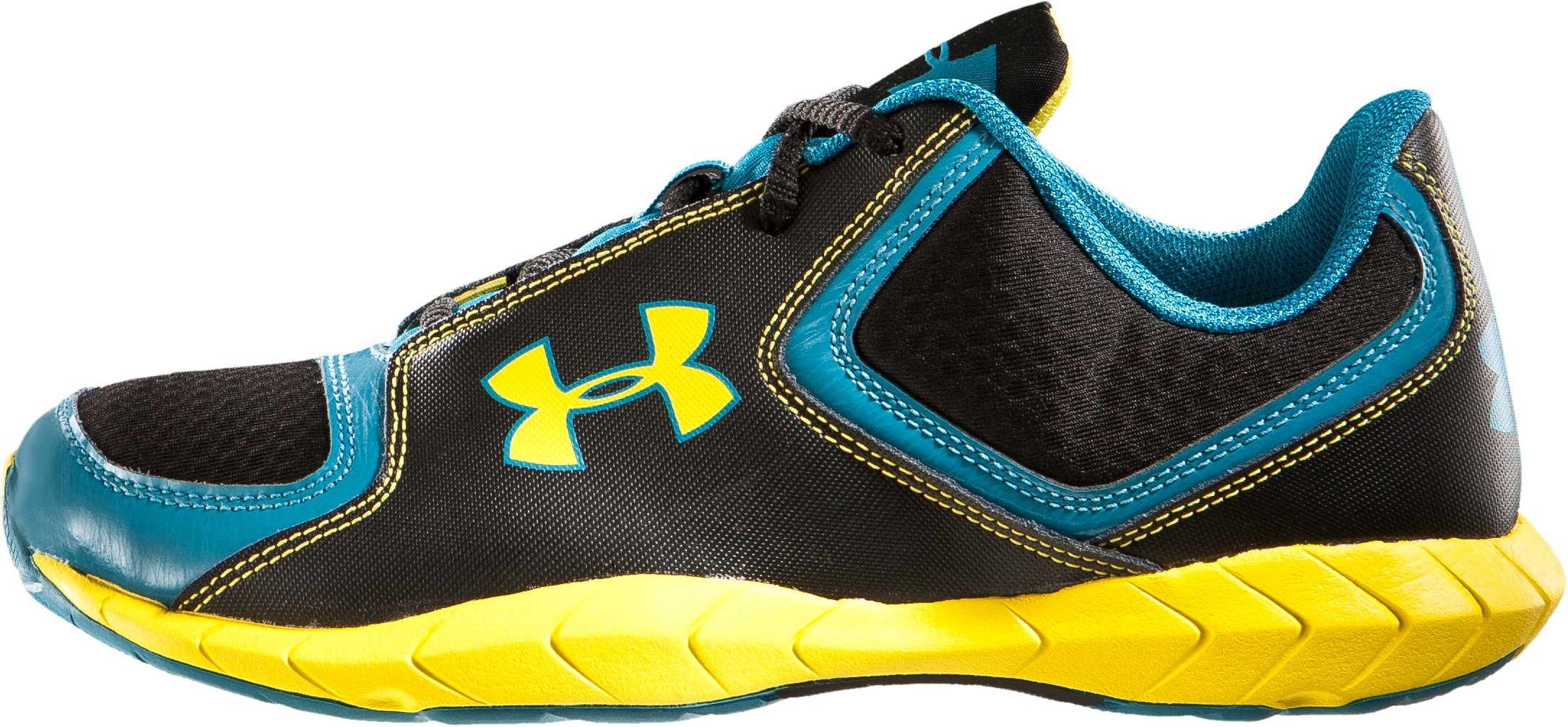 Boys' UA Conceal Grade School Running Shoes, Black , zoomed image