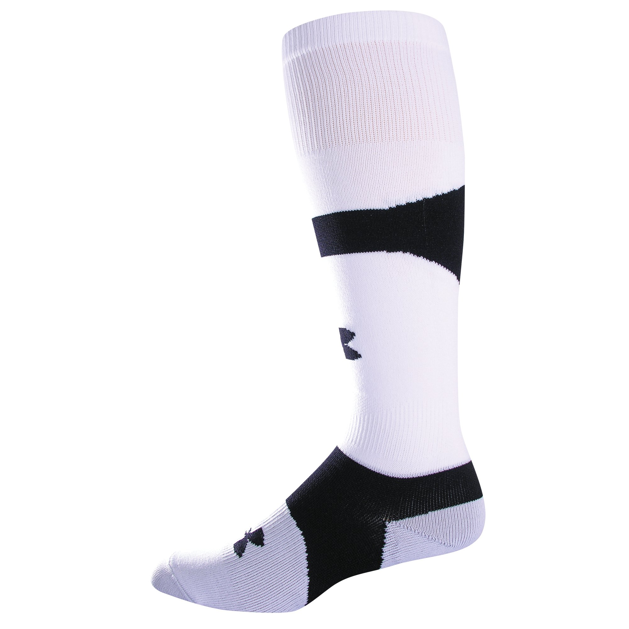 UA Dominate OTC Soccer Socks, White, zoomed image