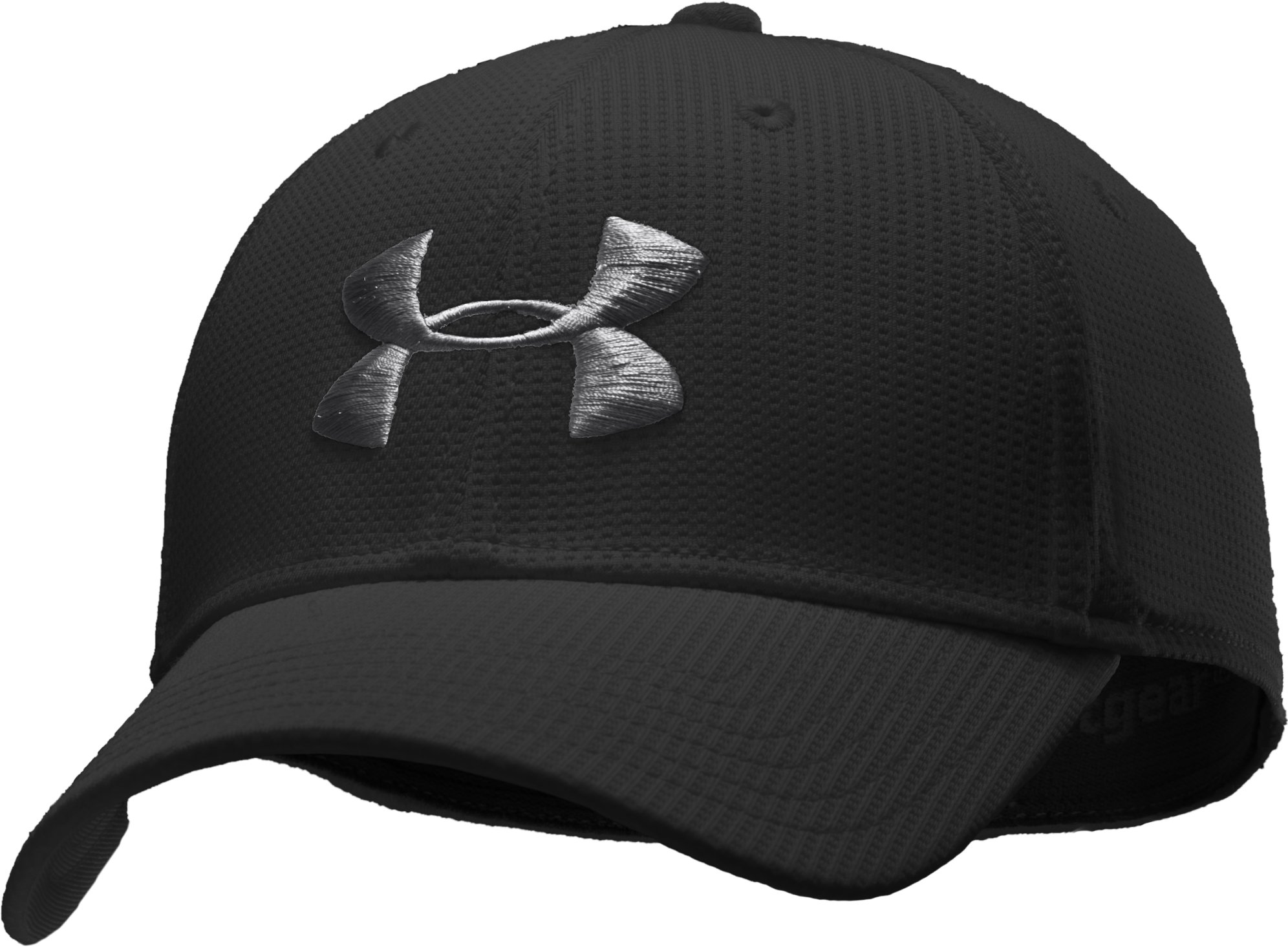 Men's UA Basic Golf Stretch Fit Cap, Black ,