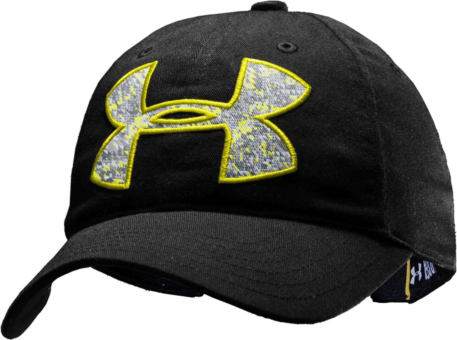 Girls' UA Big Logo Adjustable Hat, Black , zoomed image