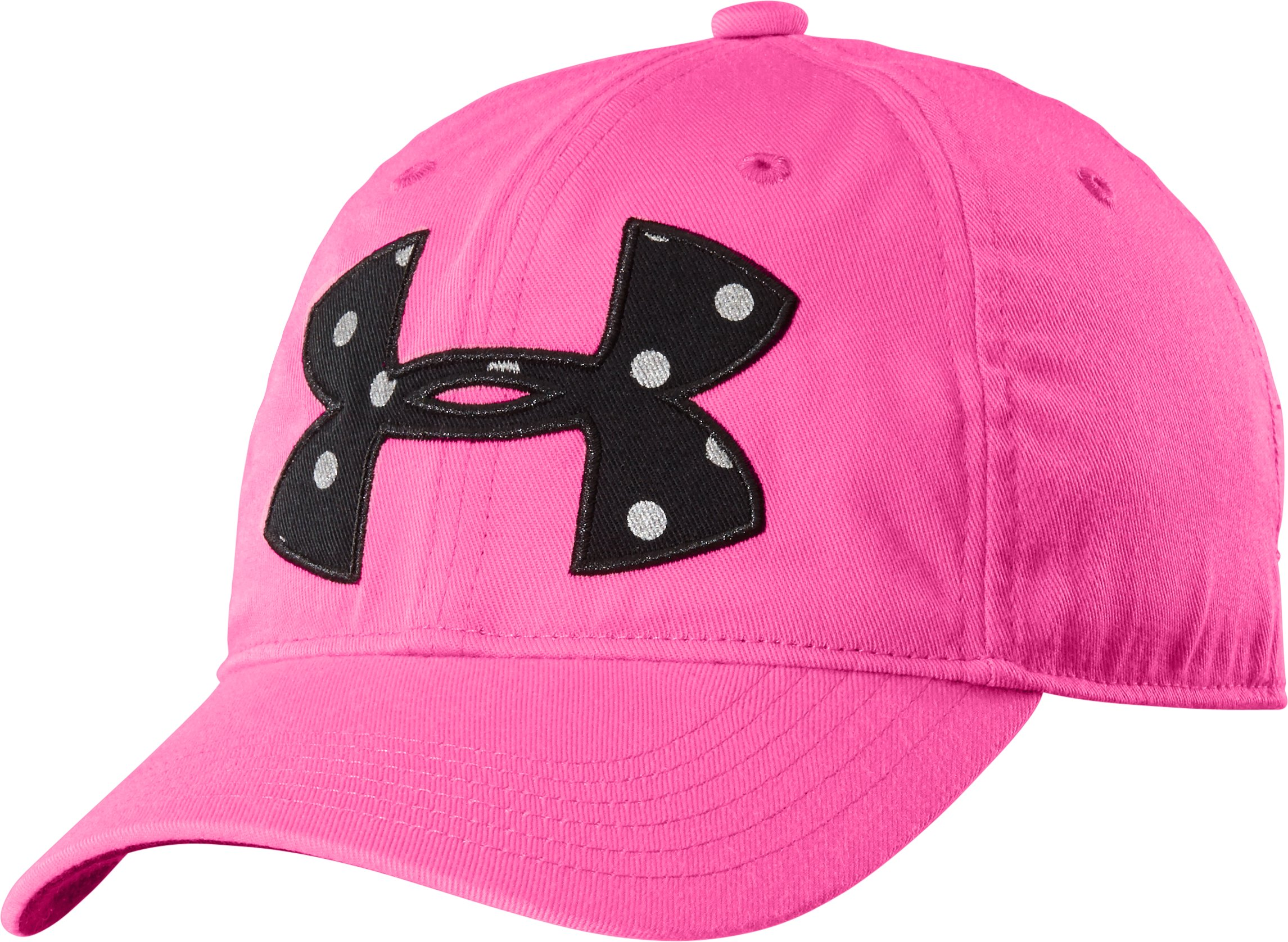 Girls' UA Big Logo Adjustable Hat, CHAOS, zoomed image