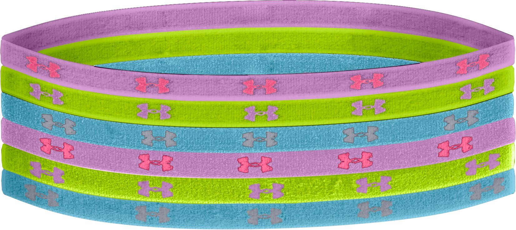 Girls' UA Mini Headbands, EXOTIC BLOOM, zoomed image