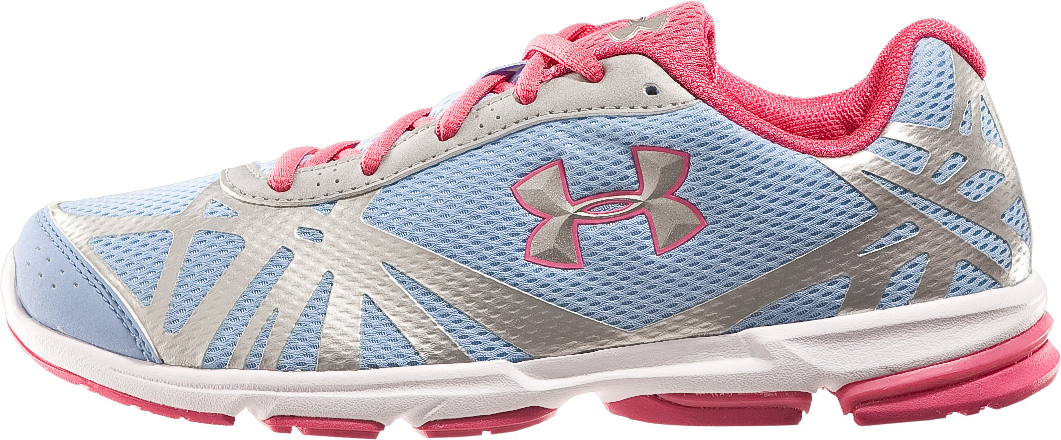 Girls' UA Reign Grade School Running Shoes, Belt Blue, zoomed image