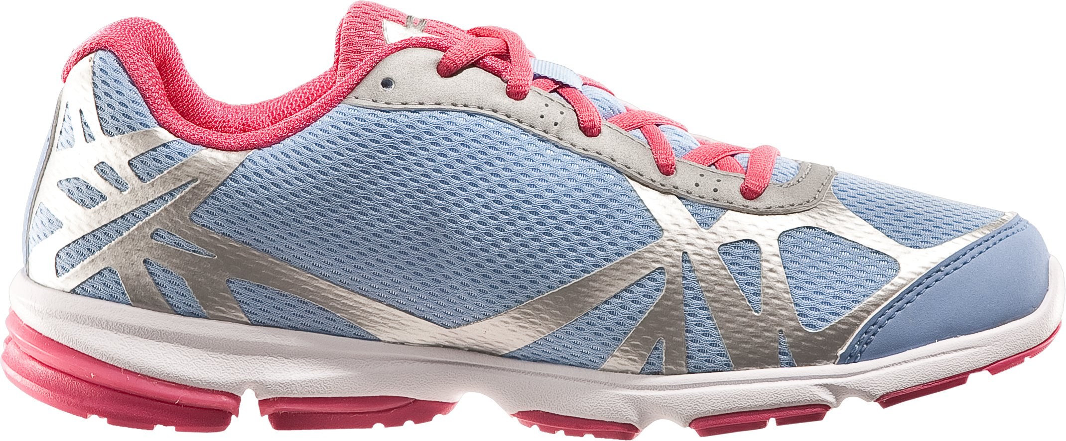 Girls' UA Reign Grade School Running Shoes, Belt Blue