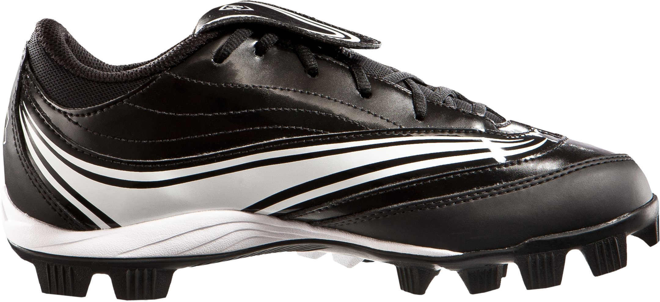Women's UA Glyde IV Rubber Molded Softball Cleats, Black