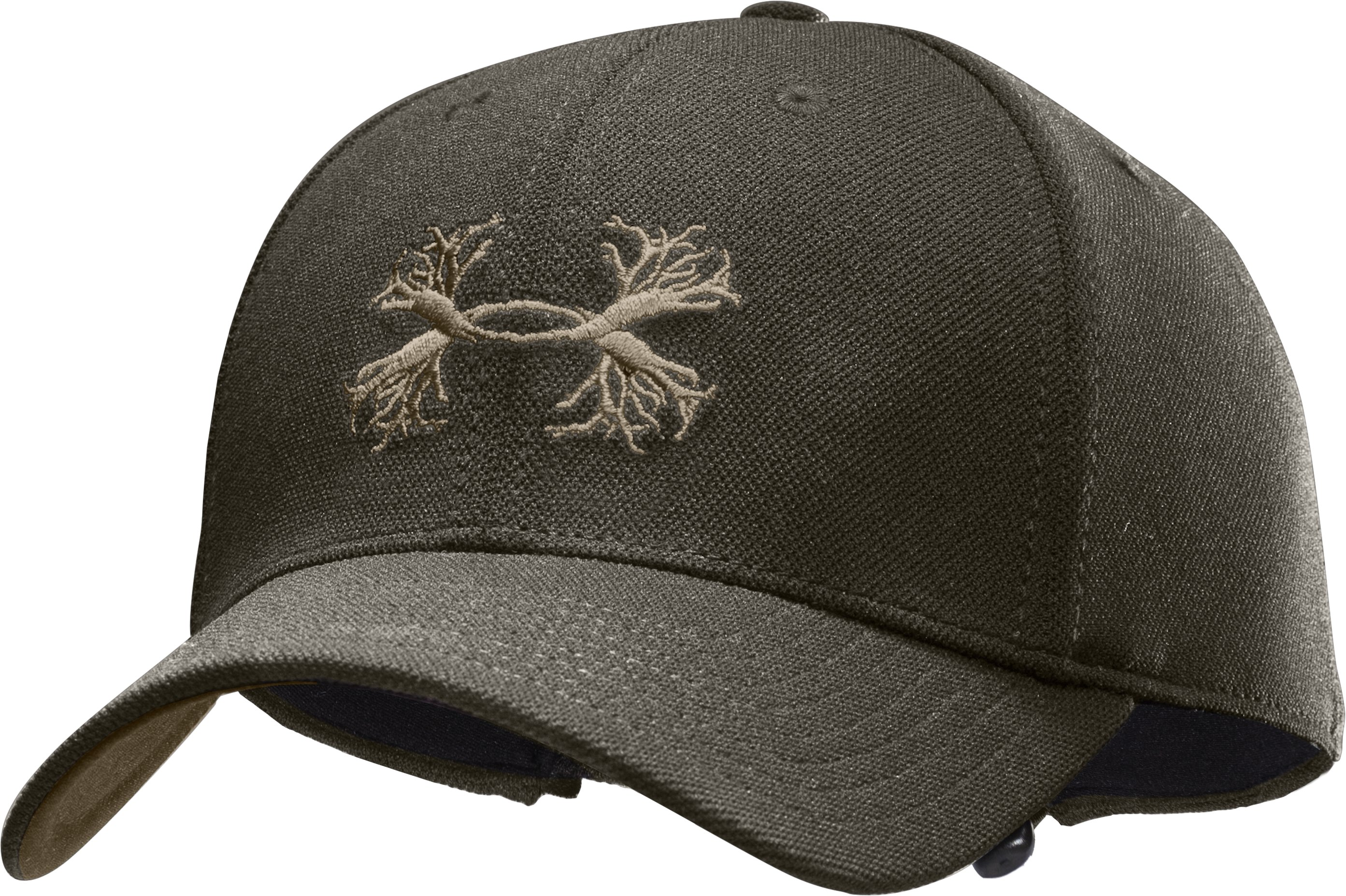Men's UA Antler Logo Adjustable Cap, Rifle Green, zoomed image