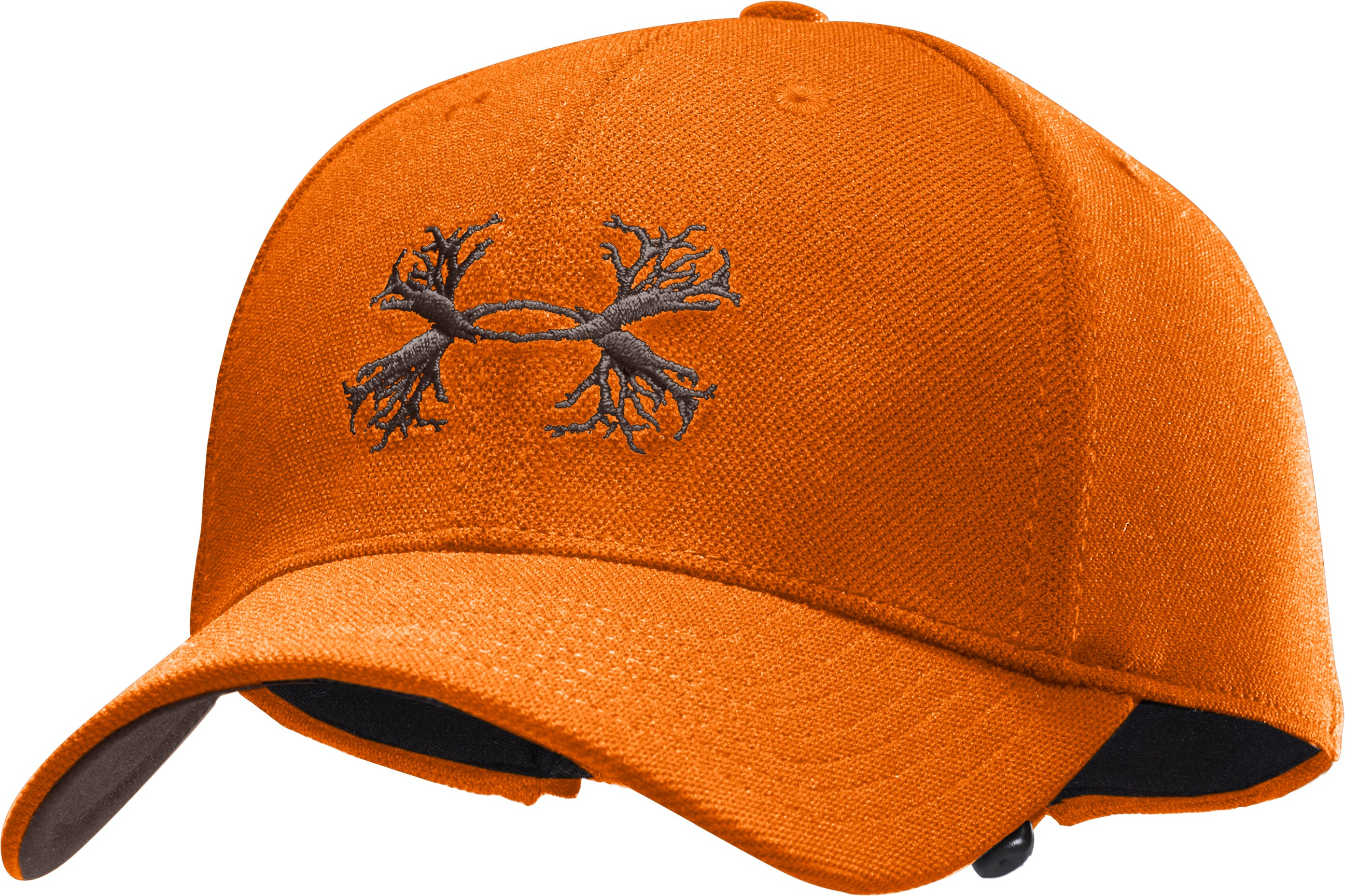 Men's UA Antler Logo Adjustable Cap, Blaze Orange, zoomed image