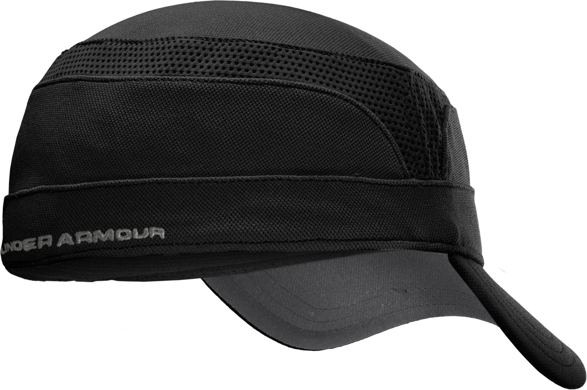 Men's UA Stretch Military Cap, Black