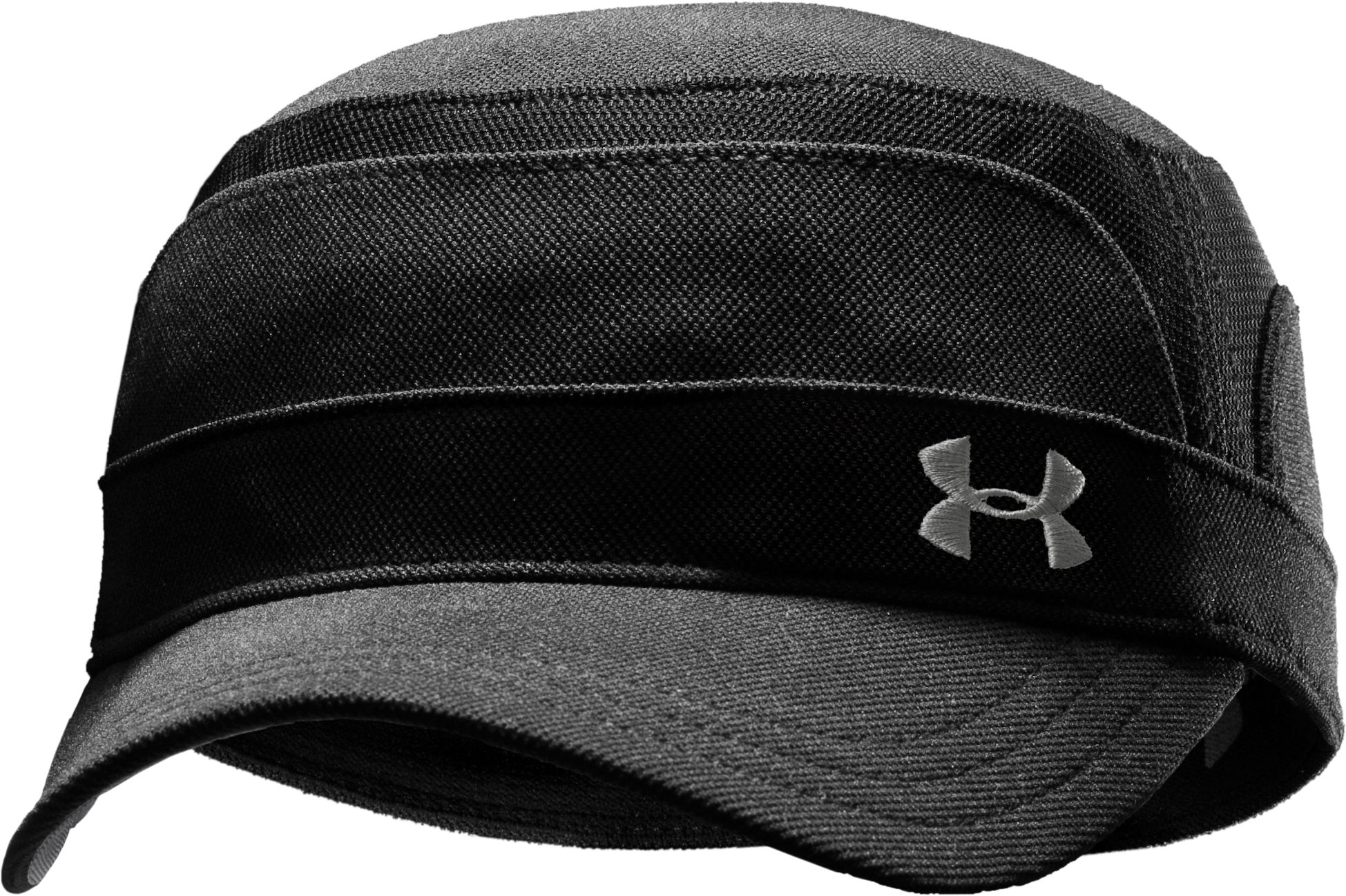 Men's UA Stretch Military Cap, Black , zoomed image