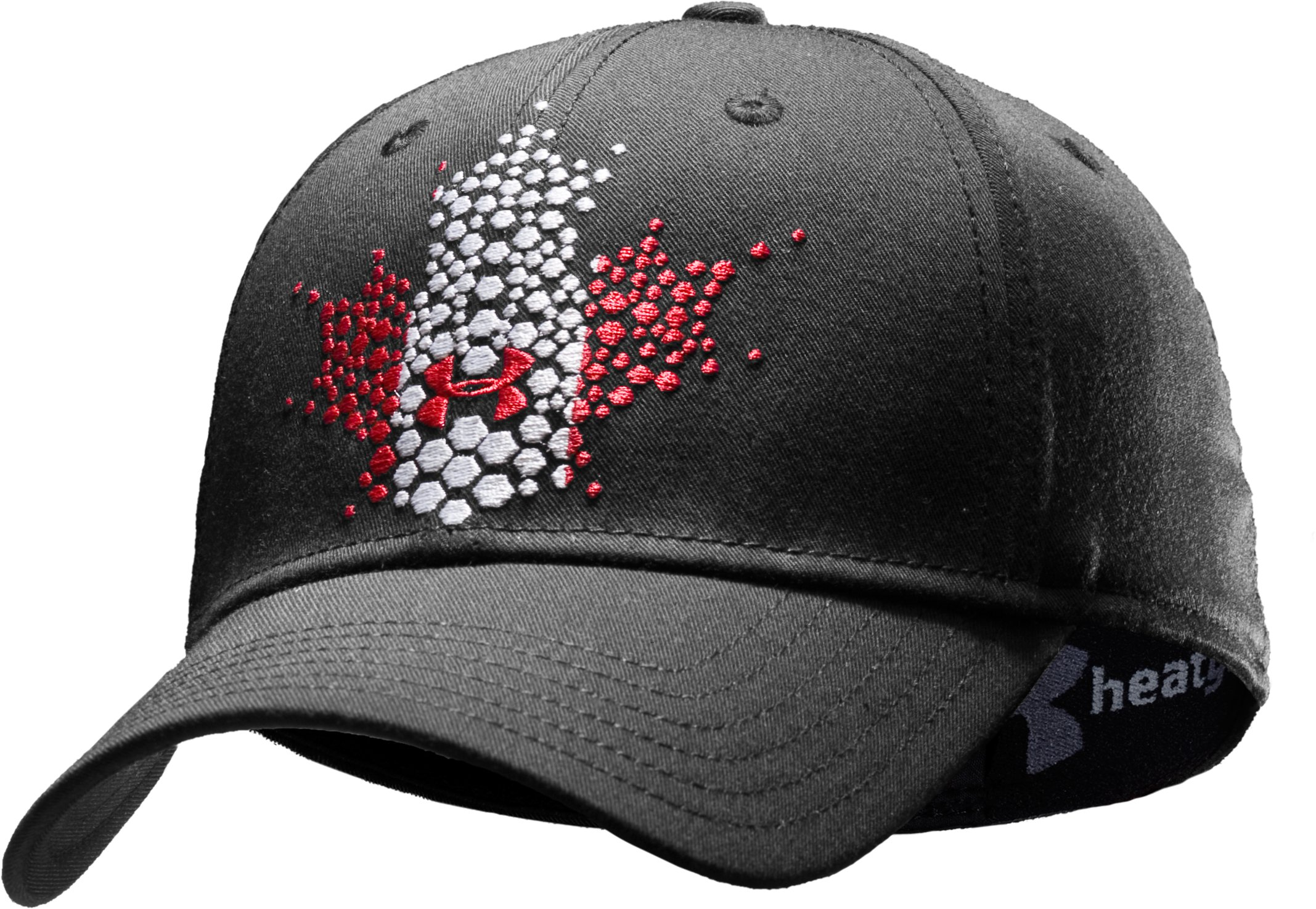 UA Canada Stretch Fit Cap, Black