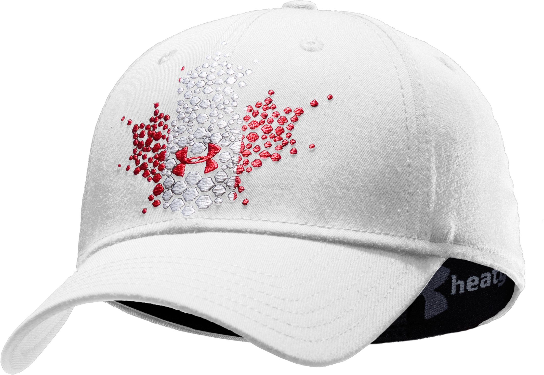 UA Canada Stretch Fit Cap, White, zoomed image
