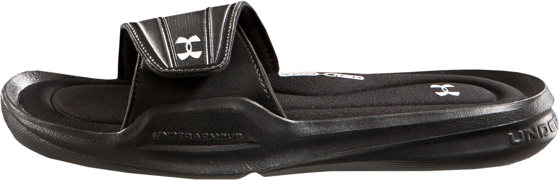 Women's UA Ignite IV Slides, Black , zoomed image